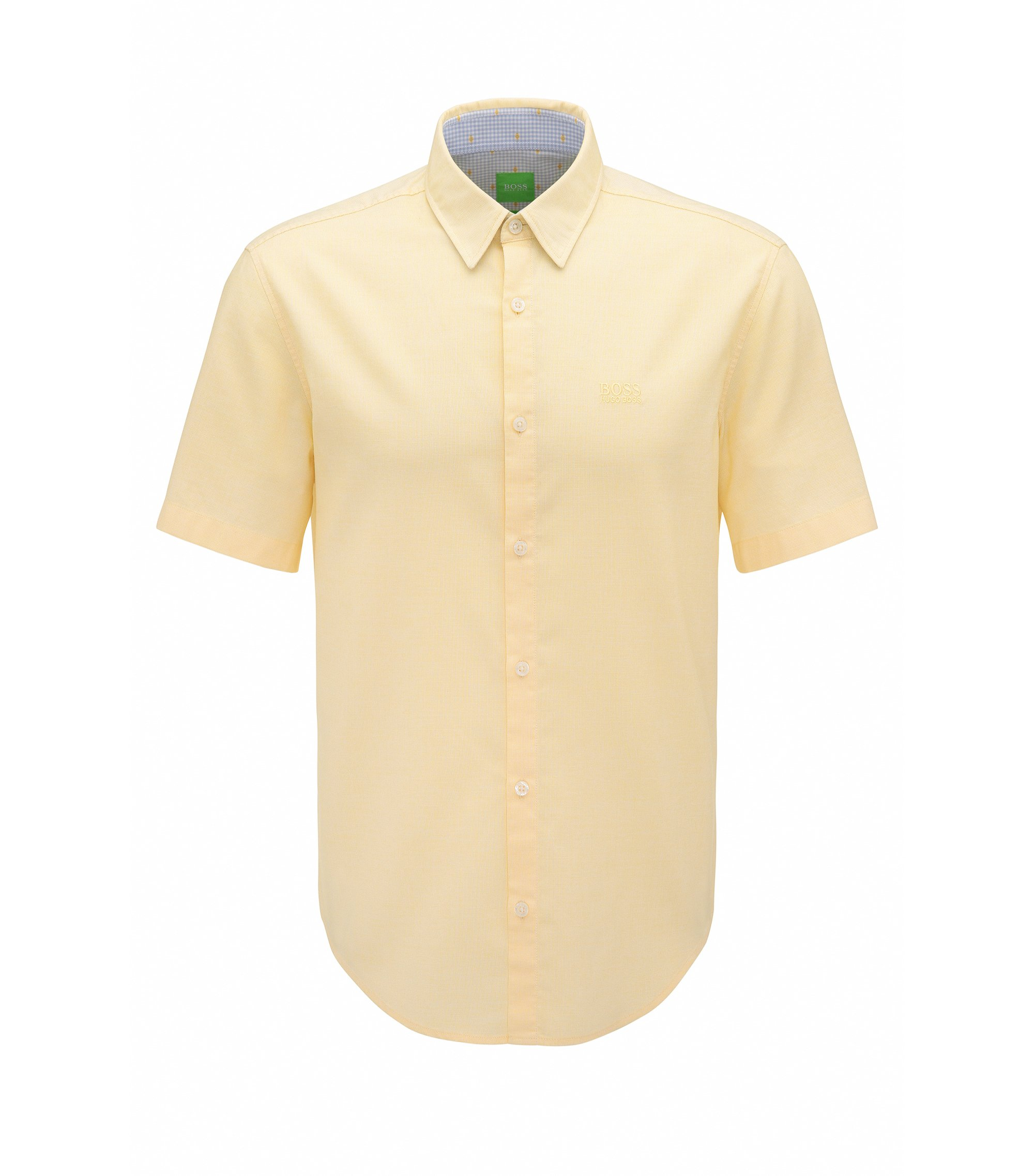 Cotton Button Down Shirt, Regular Fit | C-Busterino, Yellow