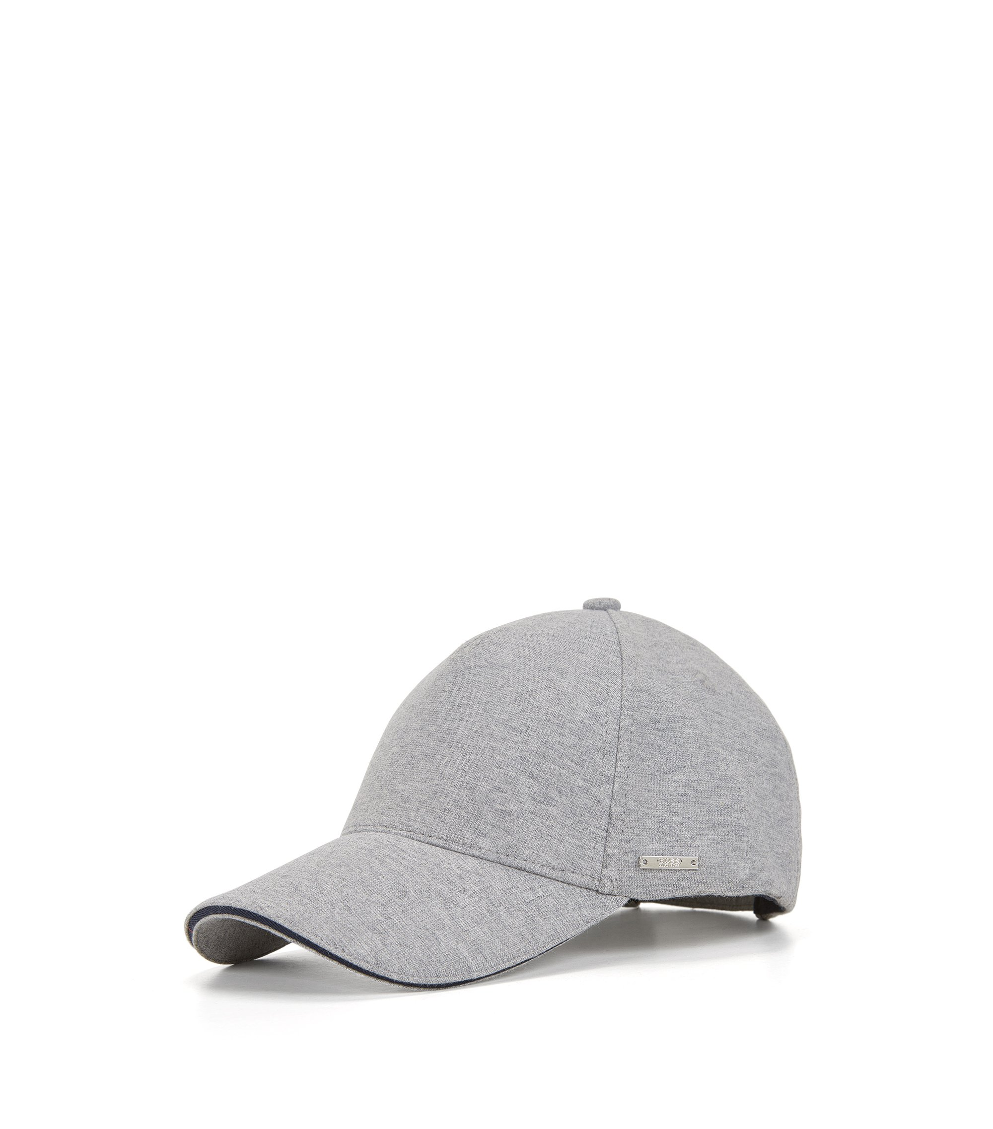 Cotton Blend Twill Cap   Serios, Open Grey