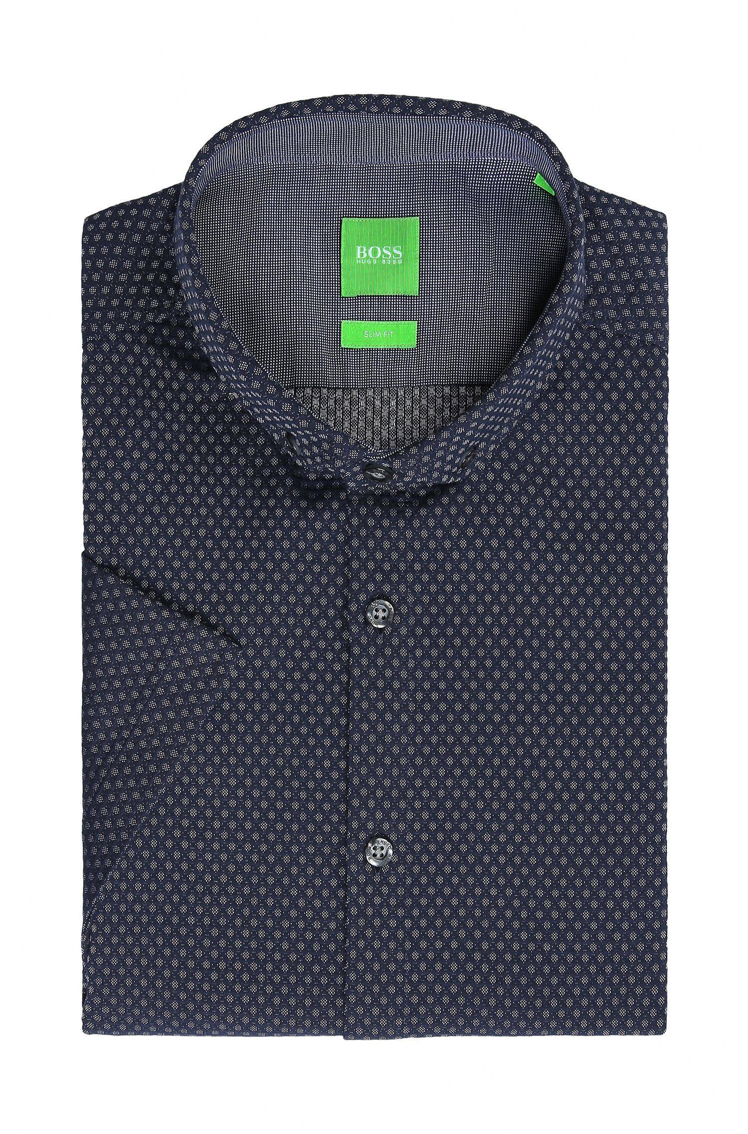 Birdseye Cotton Button-Down Shirt, Slim Fit | C-Bonettino