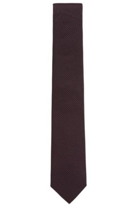 Pin Dot Silk Tie, Regular Fit | Tie 7.5 cm, Red