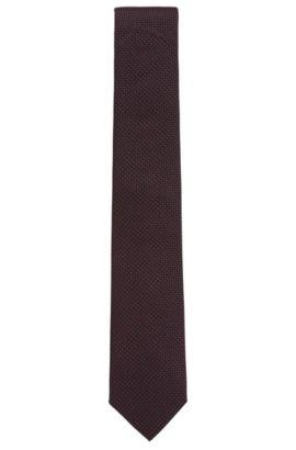 Pindot Italian Silk Tie, Red