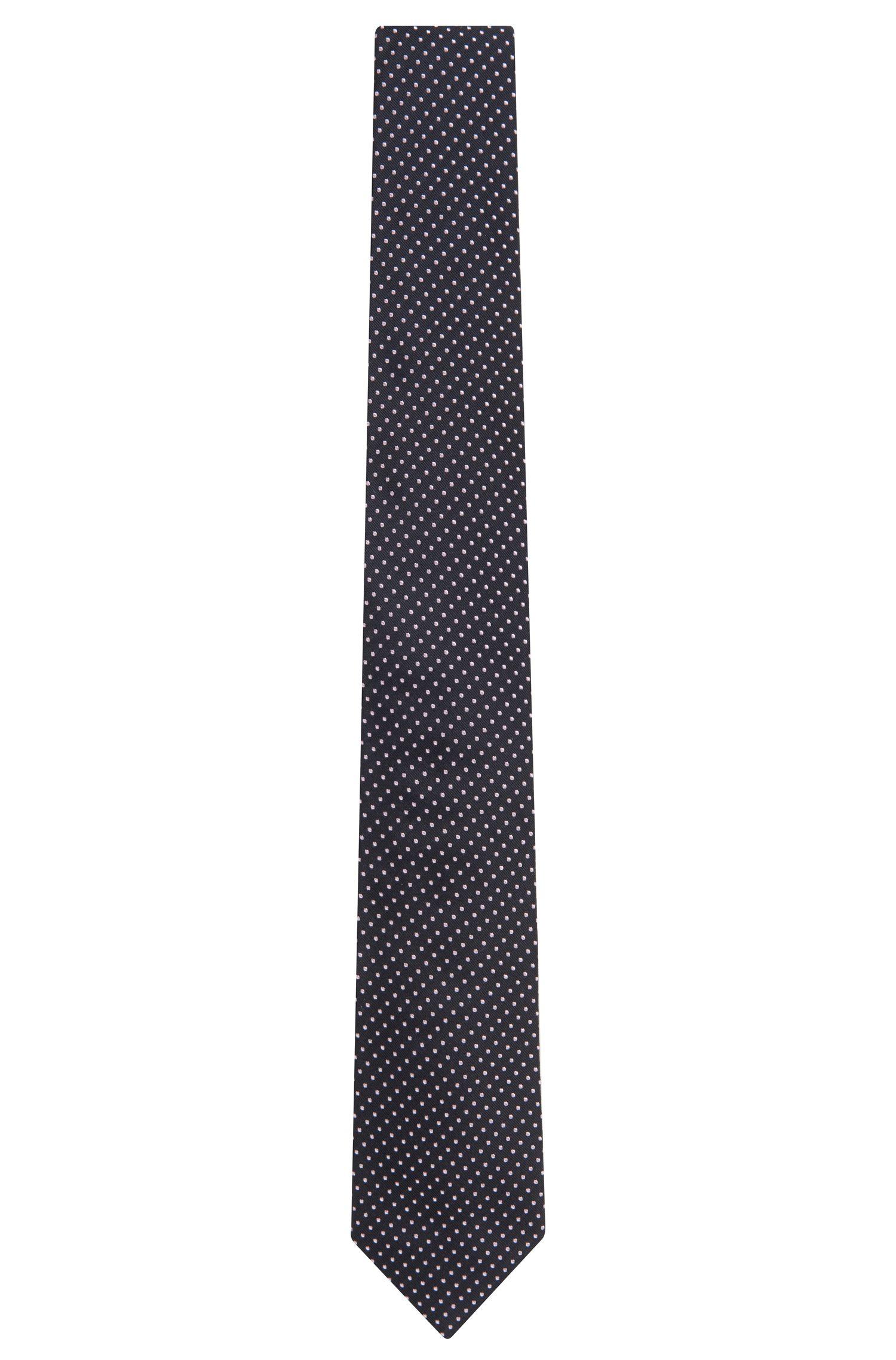 Pin Dot Embroidered Italian Silk Tie, Regular | Tie 7.5 cm