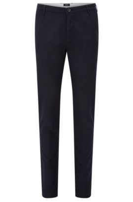 'Rice W' | Slim Fit, Stretch Cotton Chino Pants, Dark Blue