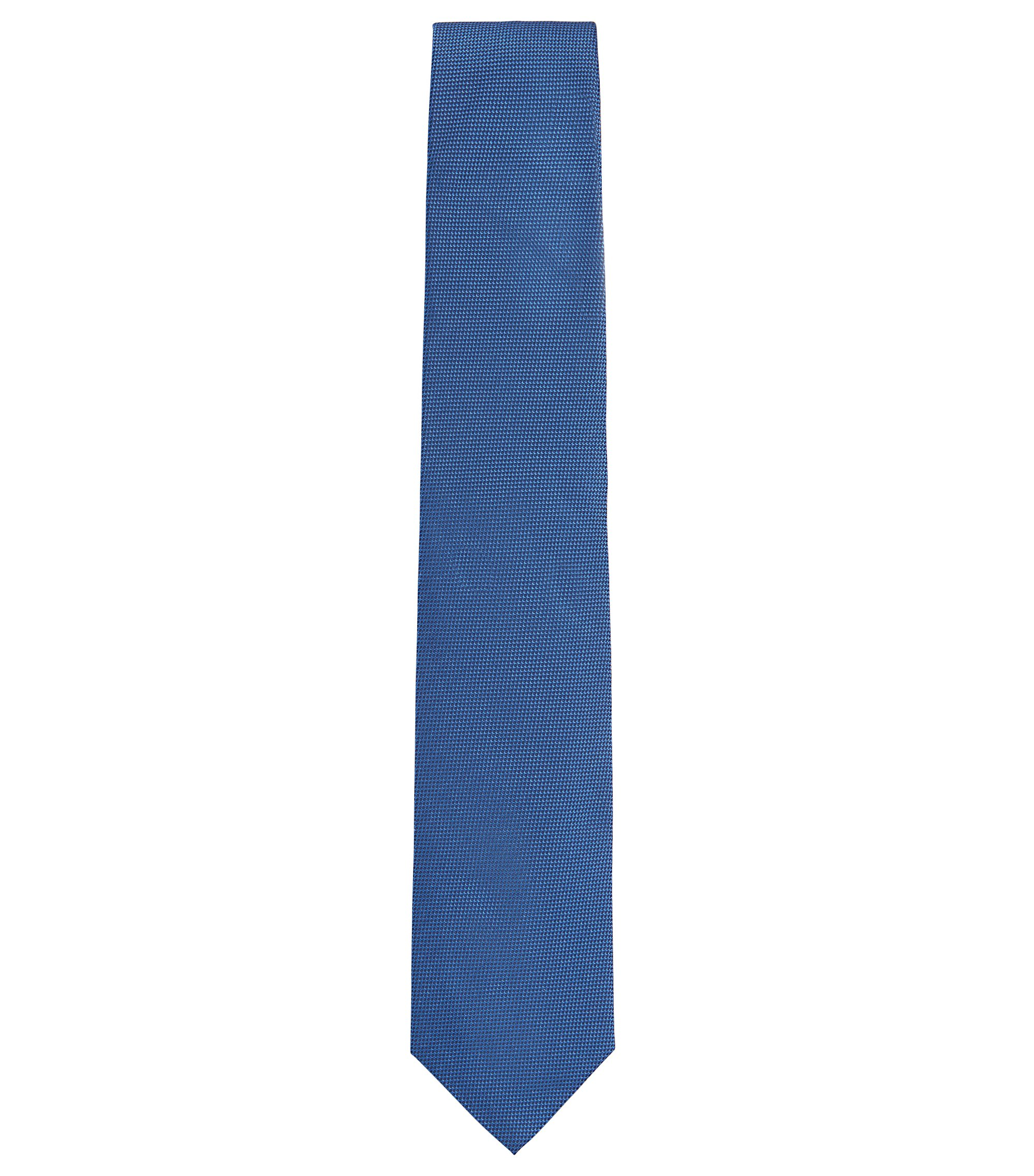 Italian Silk Tie, Open Blue