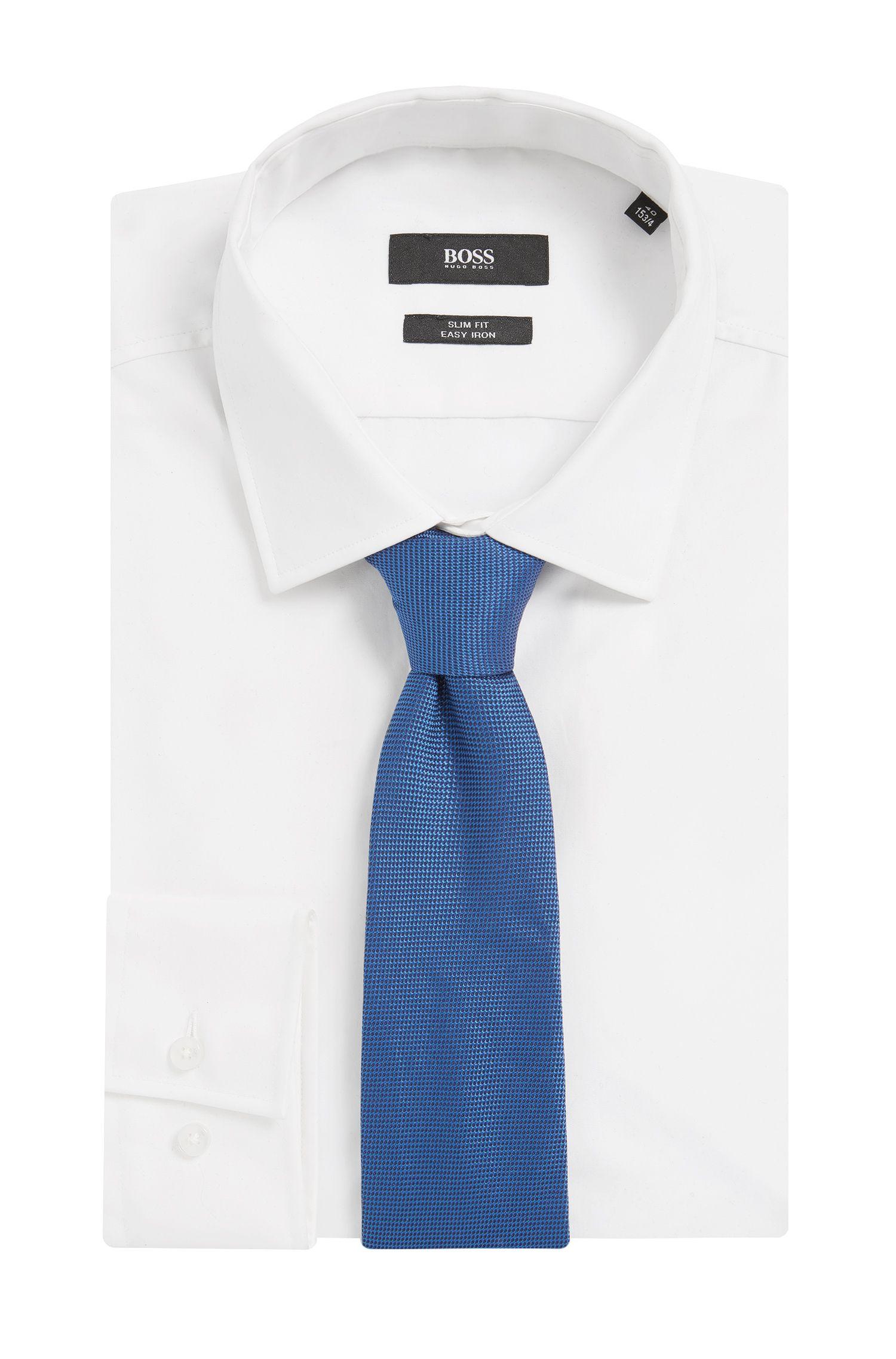 Italian Silk Tie, Open Blue