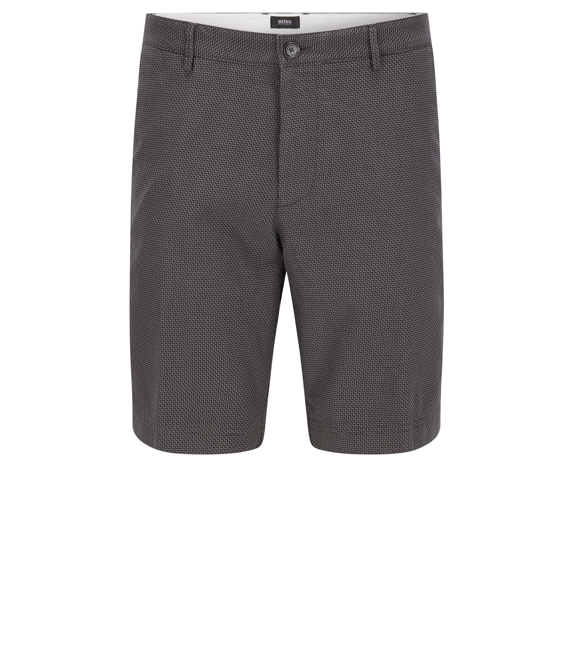 Stretch Cotton Shorts, Regular Fit | Crigan Short W, Open Grey