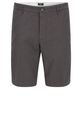 Stretch Cotton Shorts, Regular Fit | Crigan Short W, Open Grey