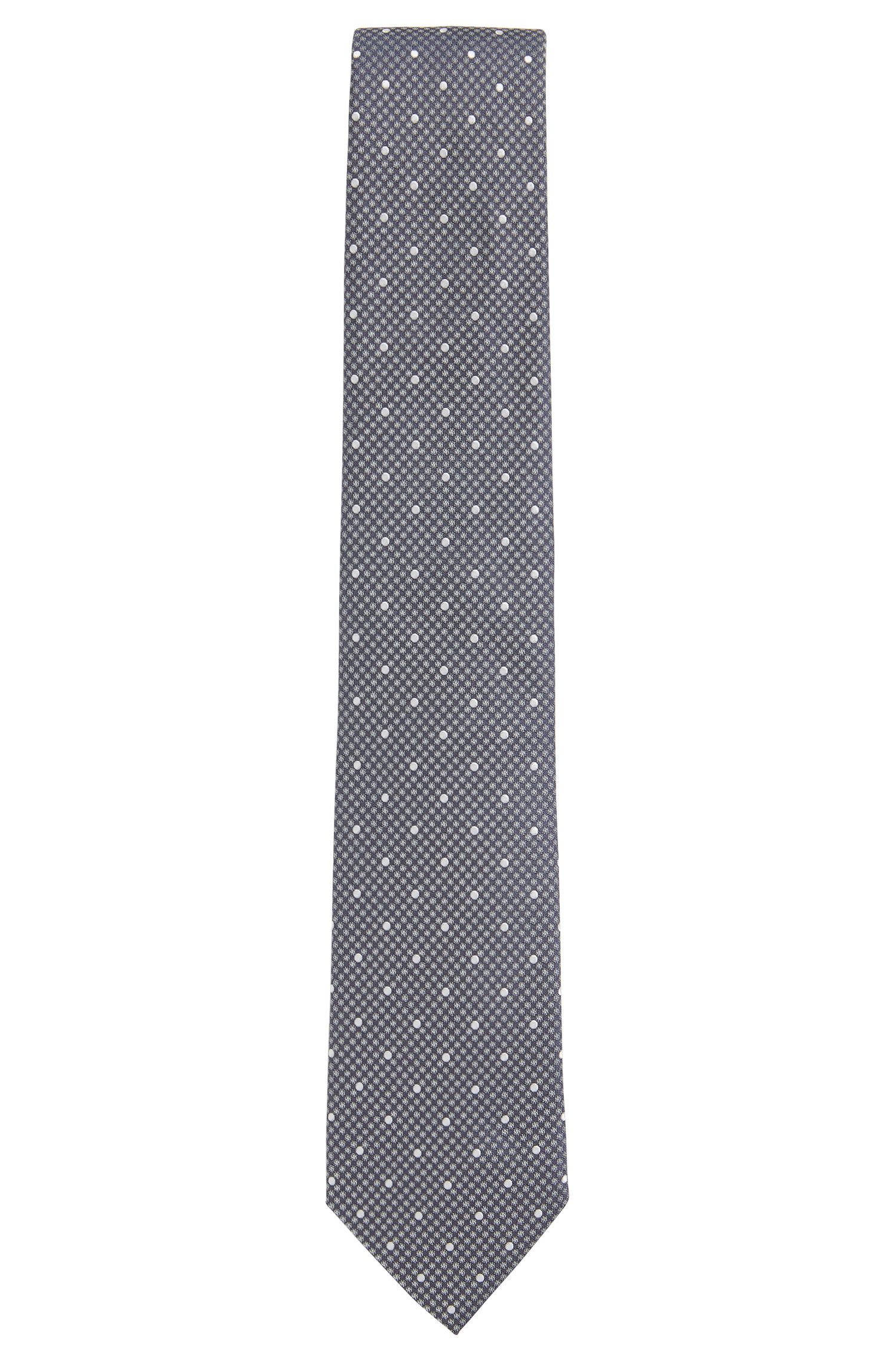 Polka Dot Embroidered Italian Silk Tie, Regular | Tie 7.5 cm