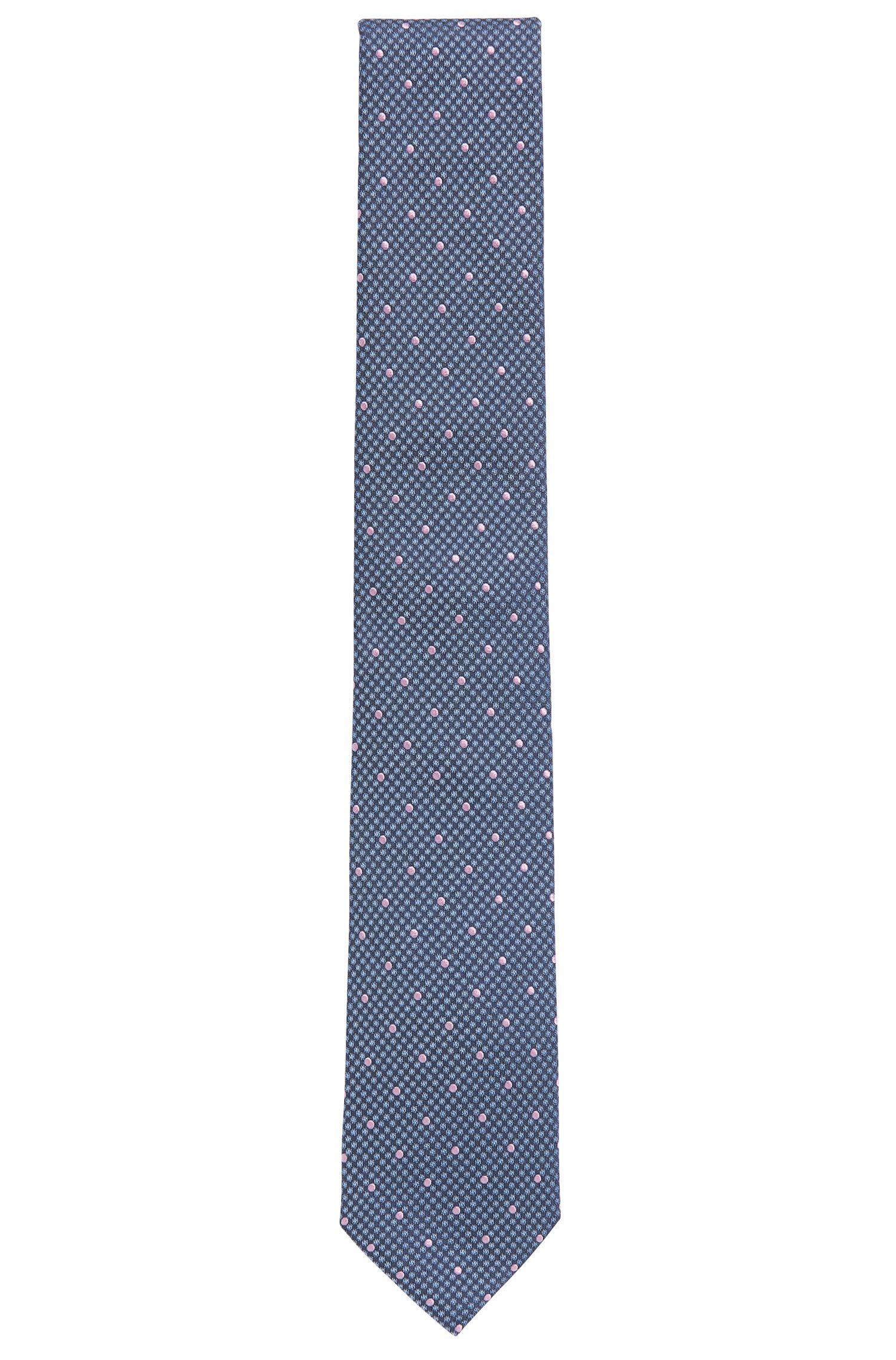 Polka Dot Embroidered Italian Silk Tie, Regular   Tie 7.5 cm