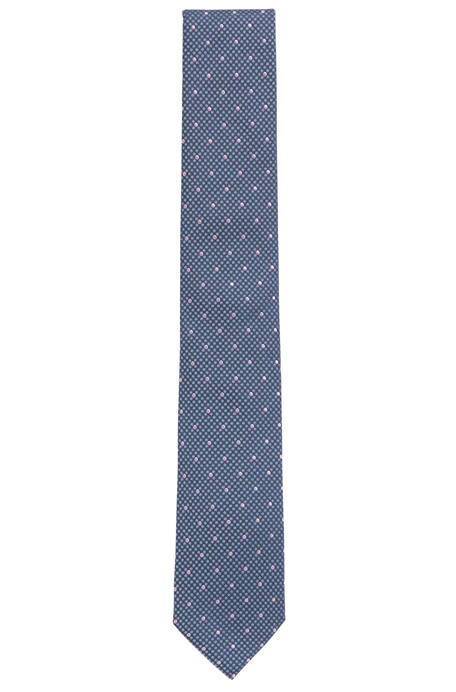 Italian Silk Tie, Dark Blue