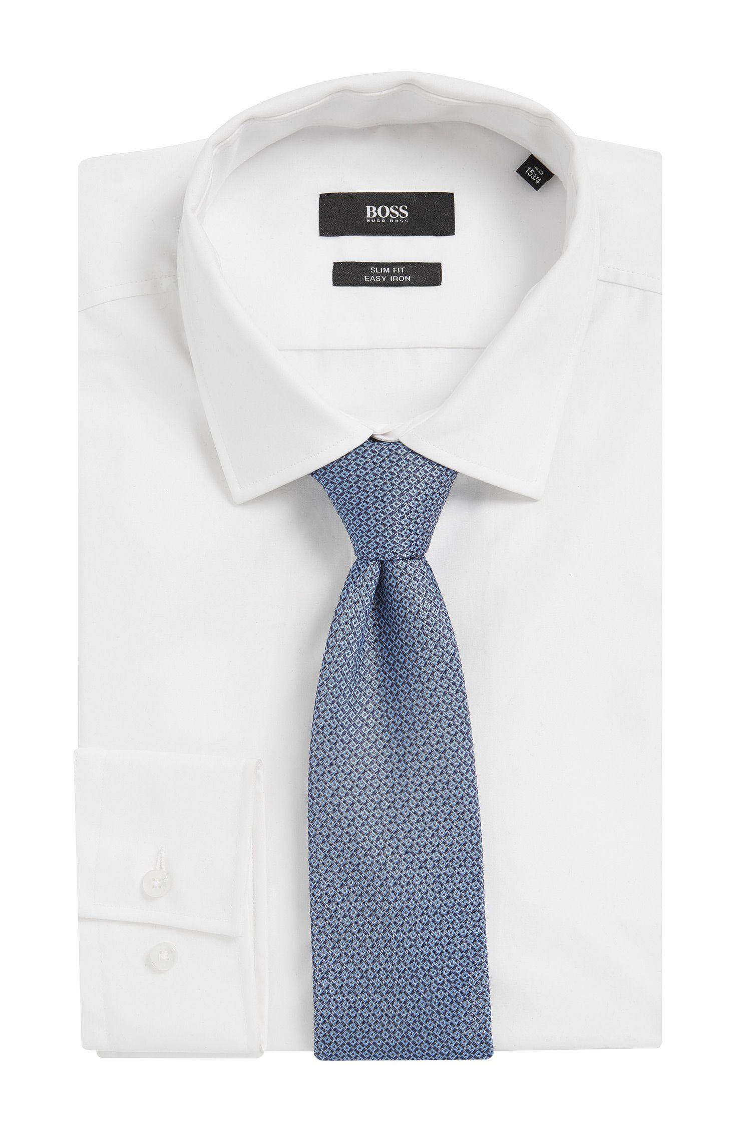 Italian Silk Tie, Dark Blue
