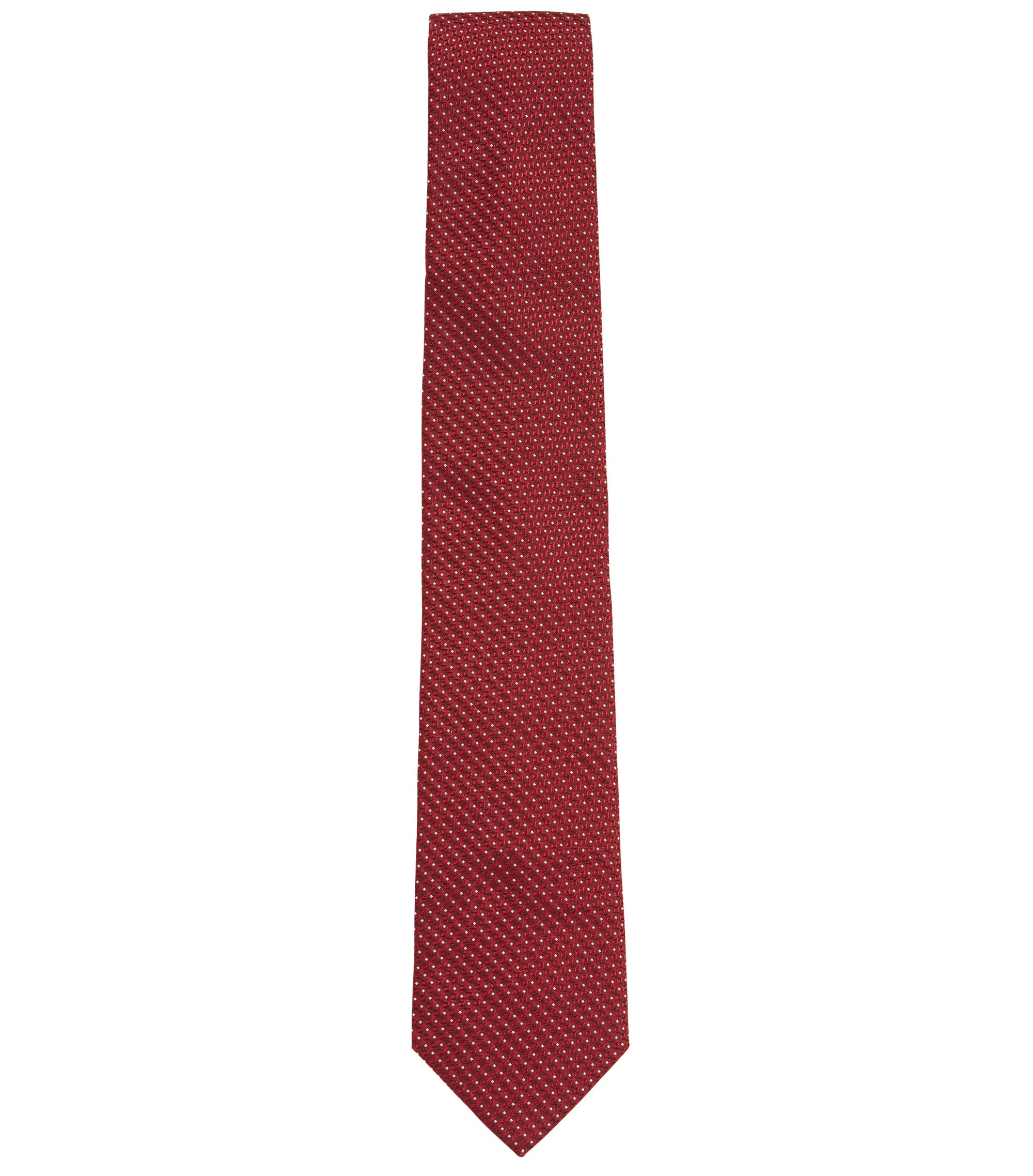 Patterned Italian Silk Tie, Red