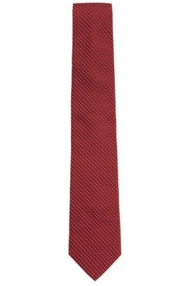 Textured Silk Tie, Regular | Tie 7.5 cm, Red