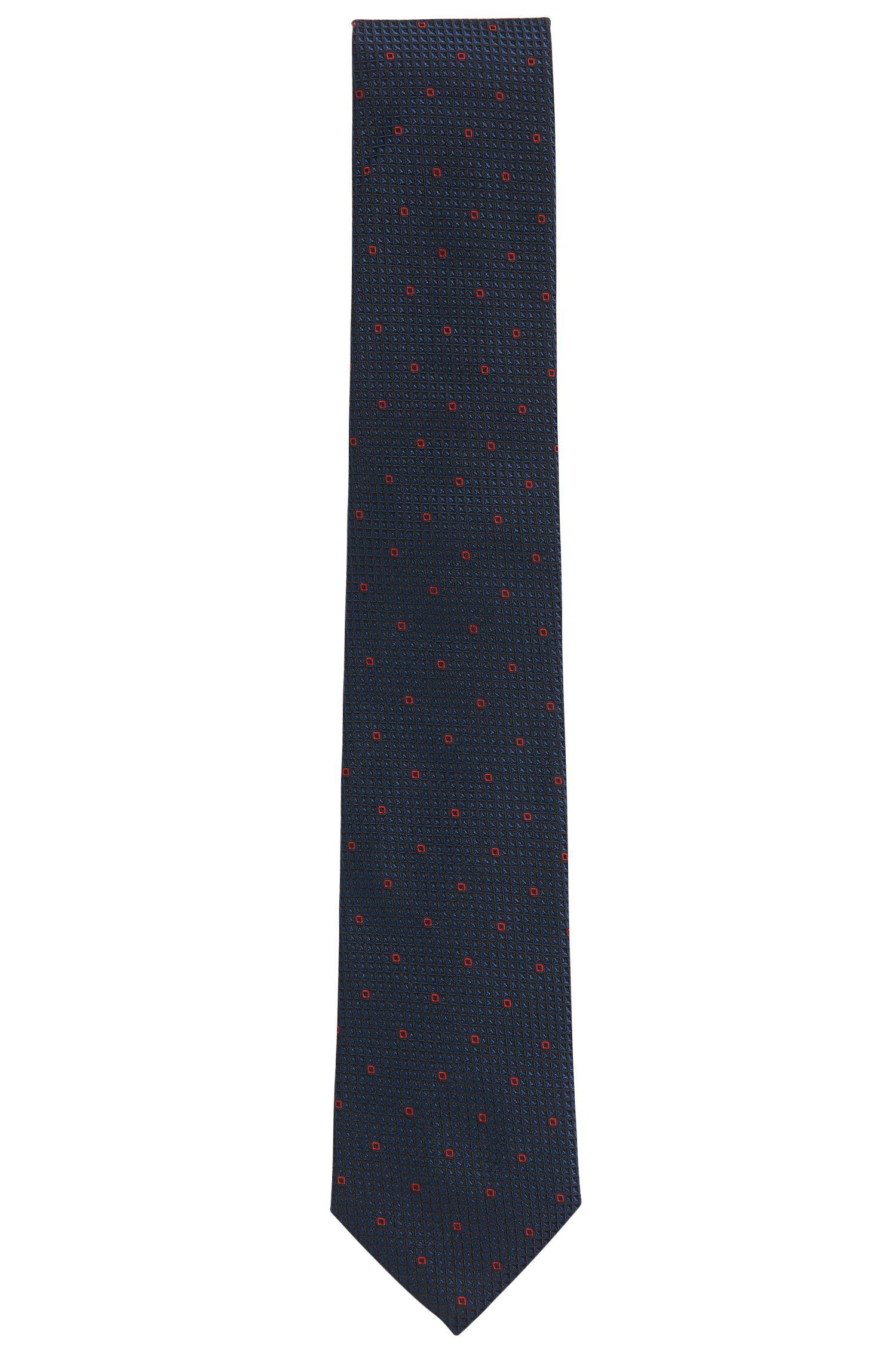 Patterned Italian Silk Tie, Red