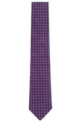 Striped Silk Tie, Regular | Tie 7.5 cm, Purple