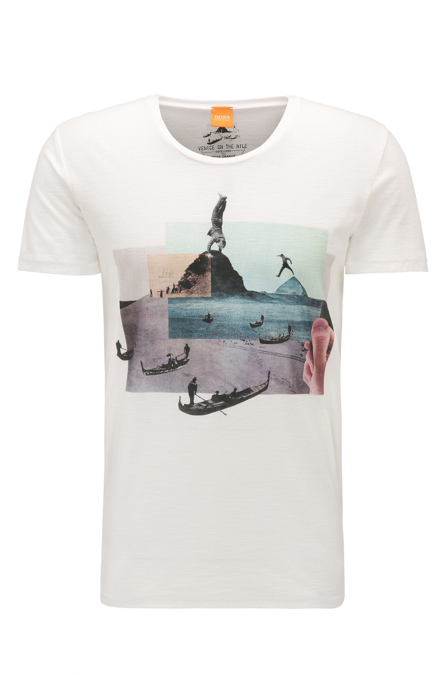 Cotton Jersey Graphic T-Shirt | Thoughts, Natural