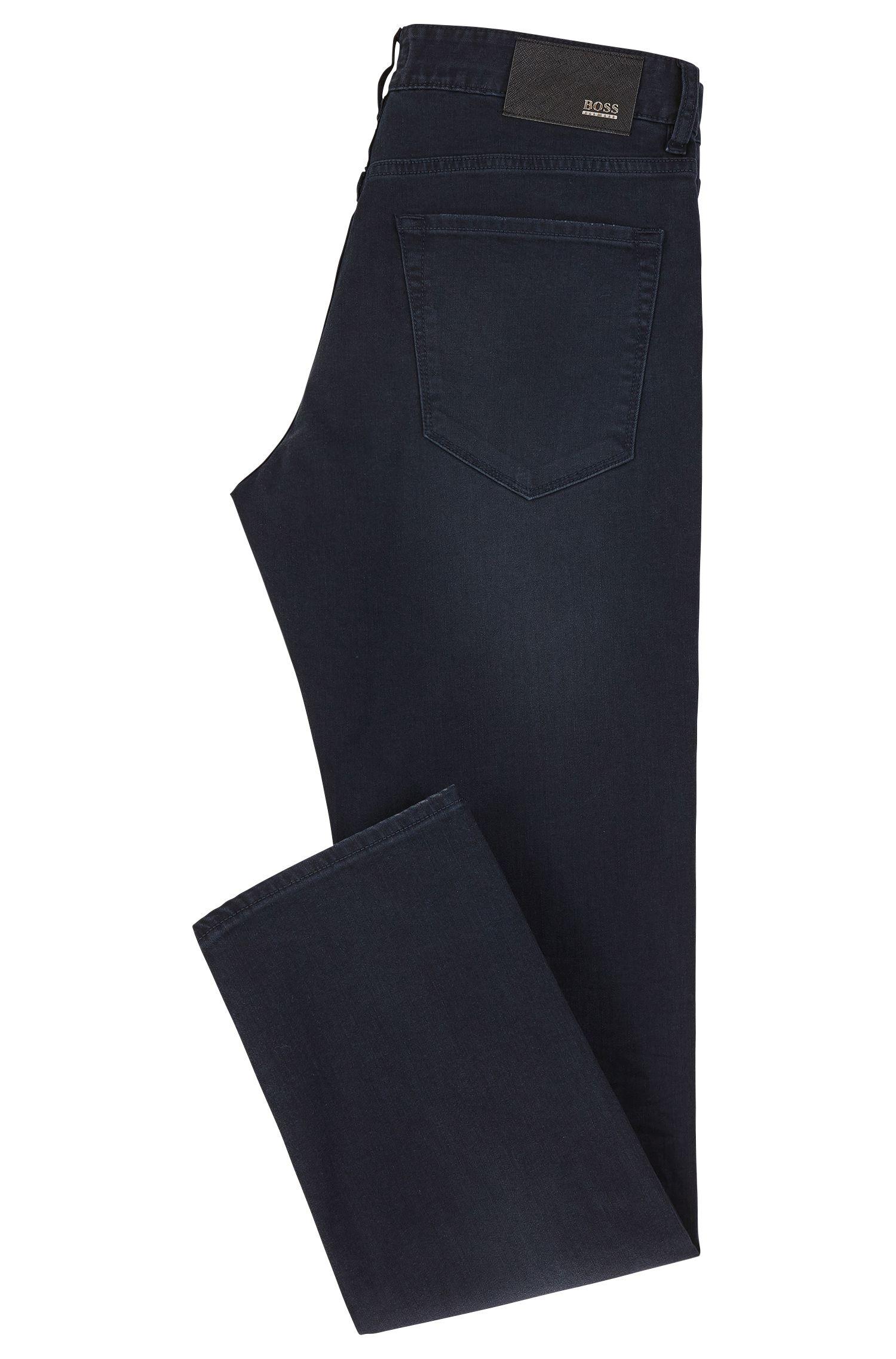 9.5 oz Stretch Cotton Blend Jeans, Regular Fit | Maine, Dark Blue