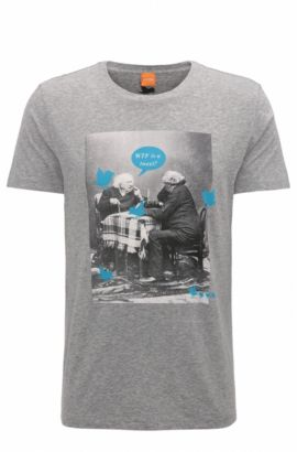 Cotton Graphic T-Shirt | Totally, Light Grey
