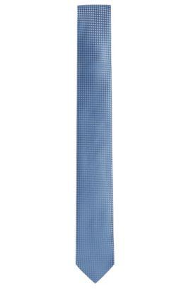 Woven Silk Tie, Slim | Tie 6 cm, Dark Blue