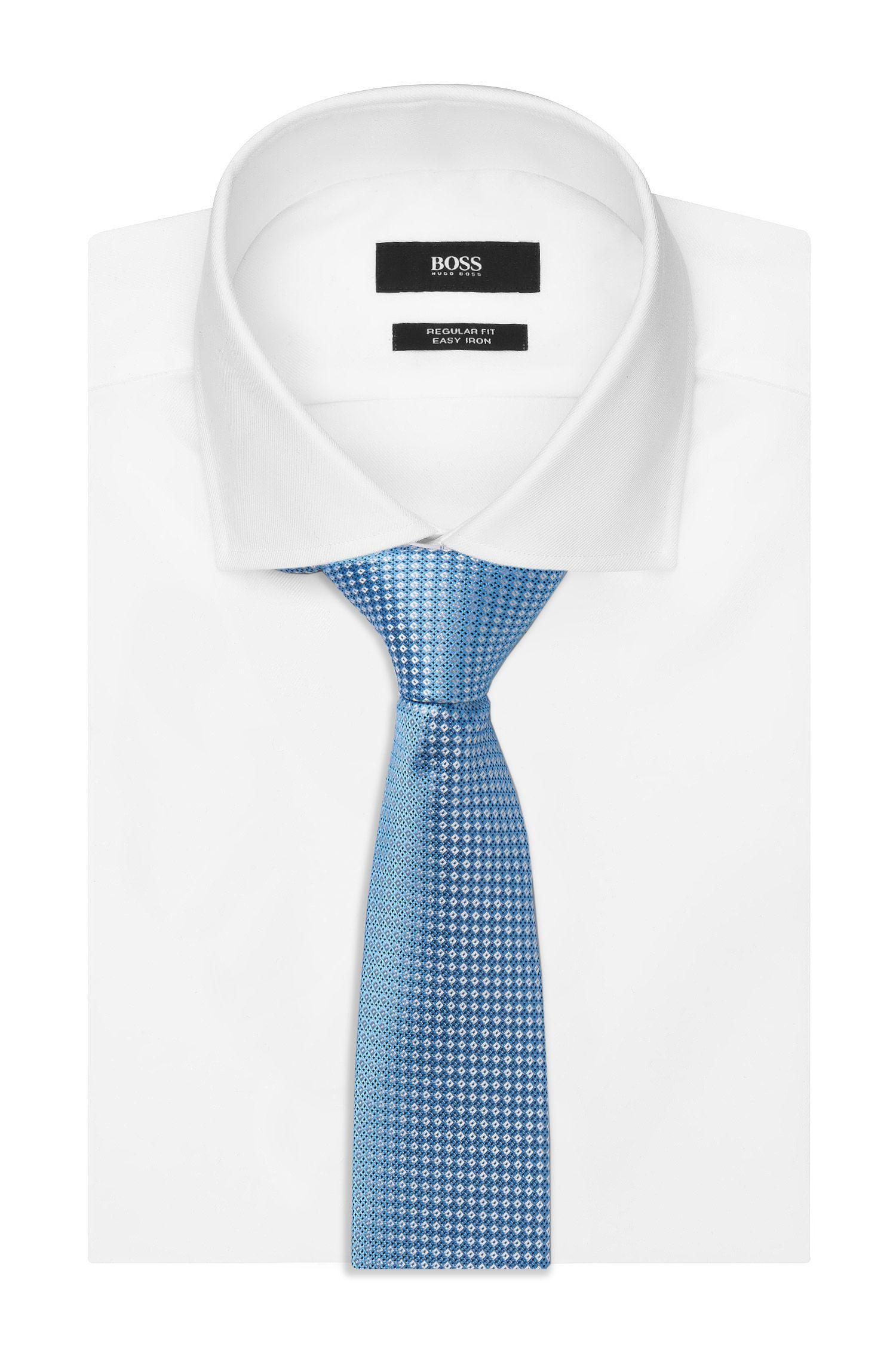 Embroidered Italian Silk Slim Tie