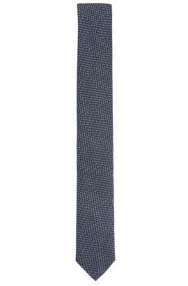 Geometric Pin Dot Silk Tie, Slim | Tie 6 cm, Dark Blue