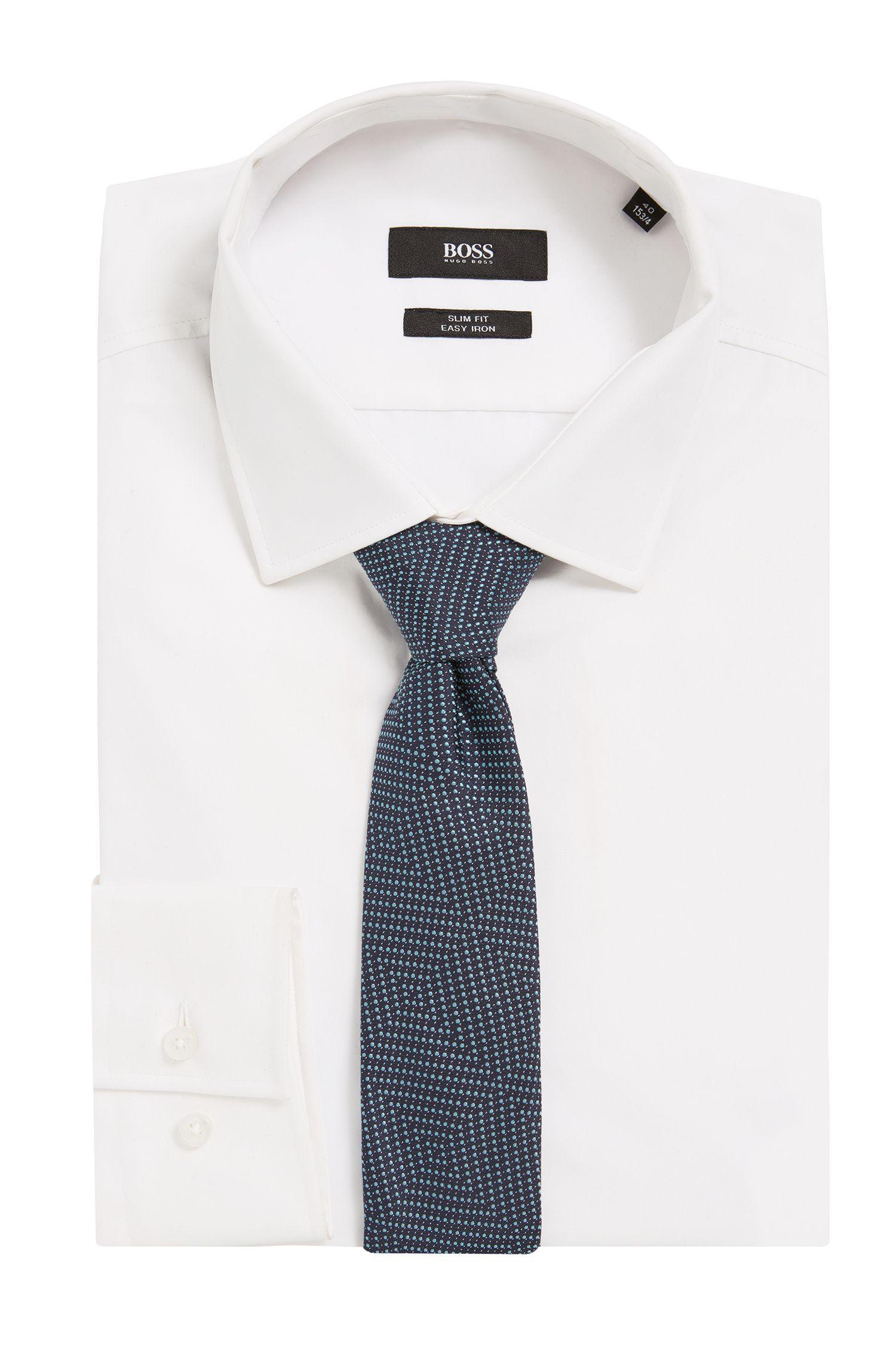 Geometric Pindot Italian Silk Slim Tie