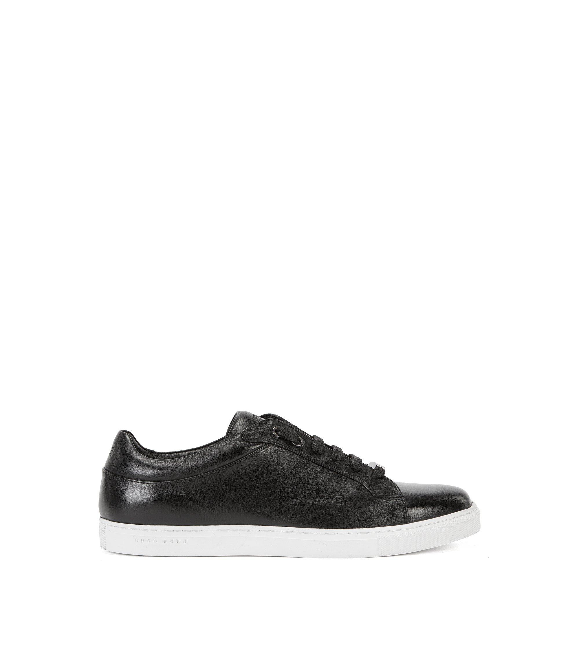 Genuine Leather Sneaker | Tribute Tenn Pl, Black