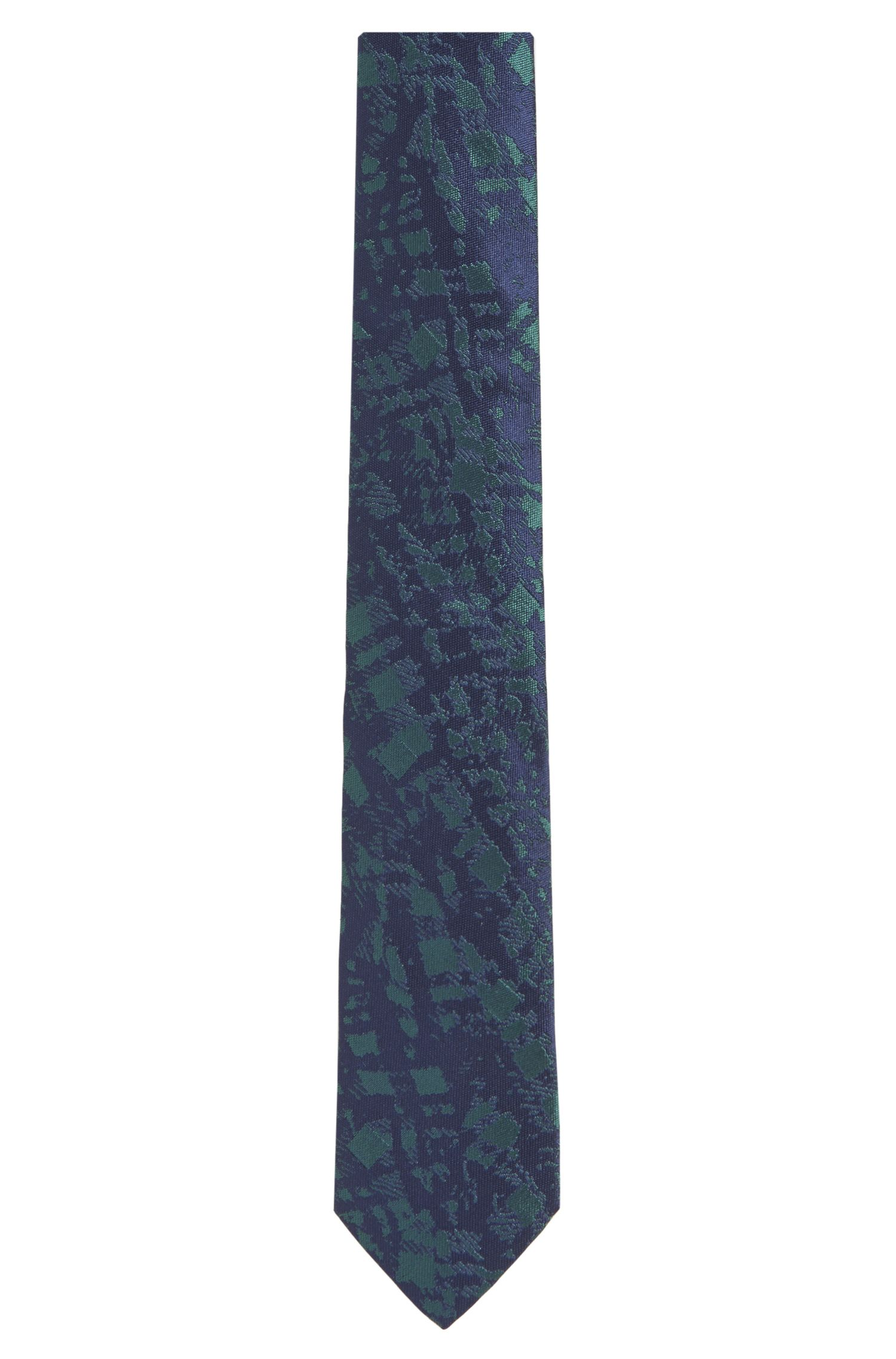 Embroidered Italian Silk Slim Tie