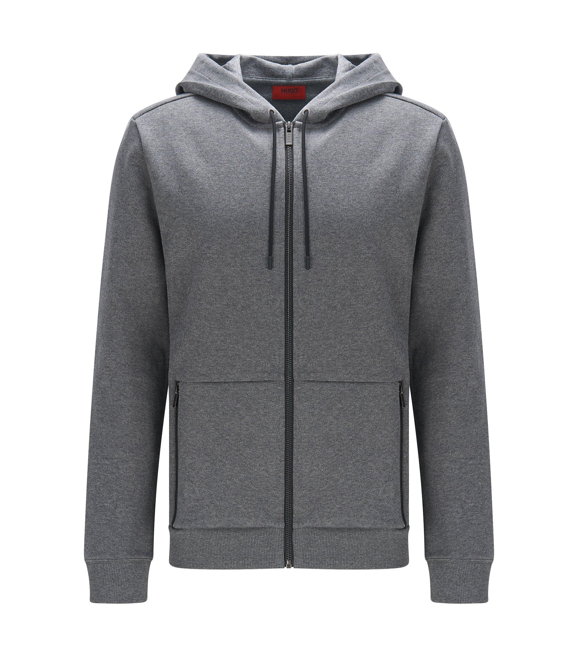 Cotton Hooded Sweatshirt | Dampton, Grey