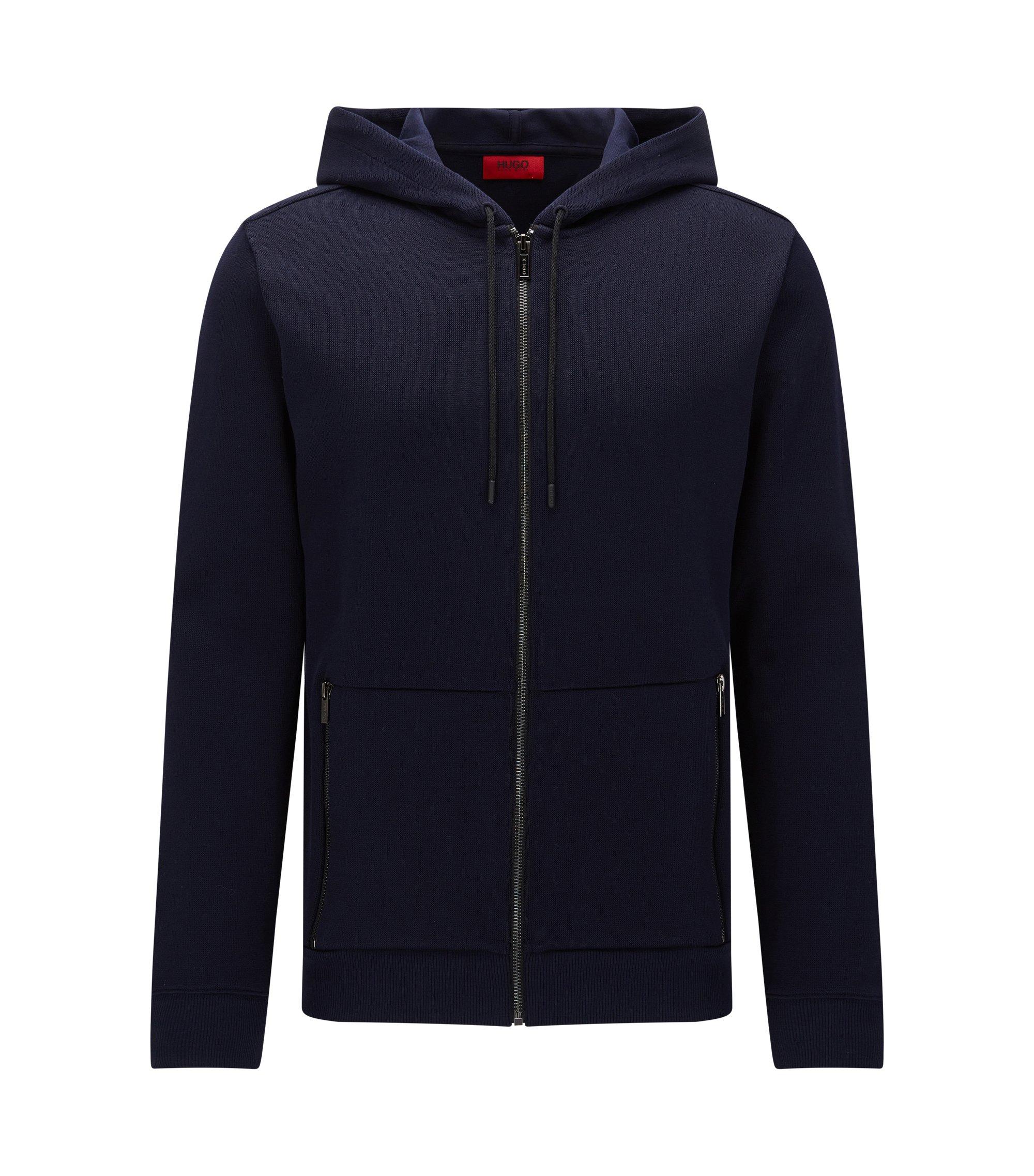 Cotton Hooded Sweatshirt | Dampton, Dark Blue