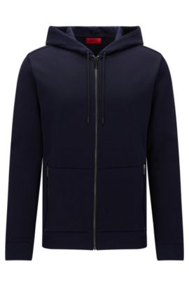 'Dampton' | Cotton Hooded Sweatshirt, Dark Blue