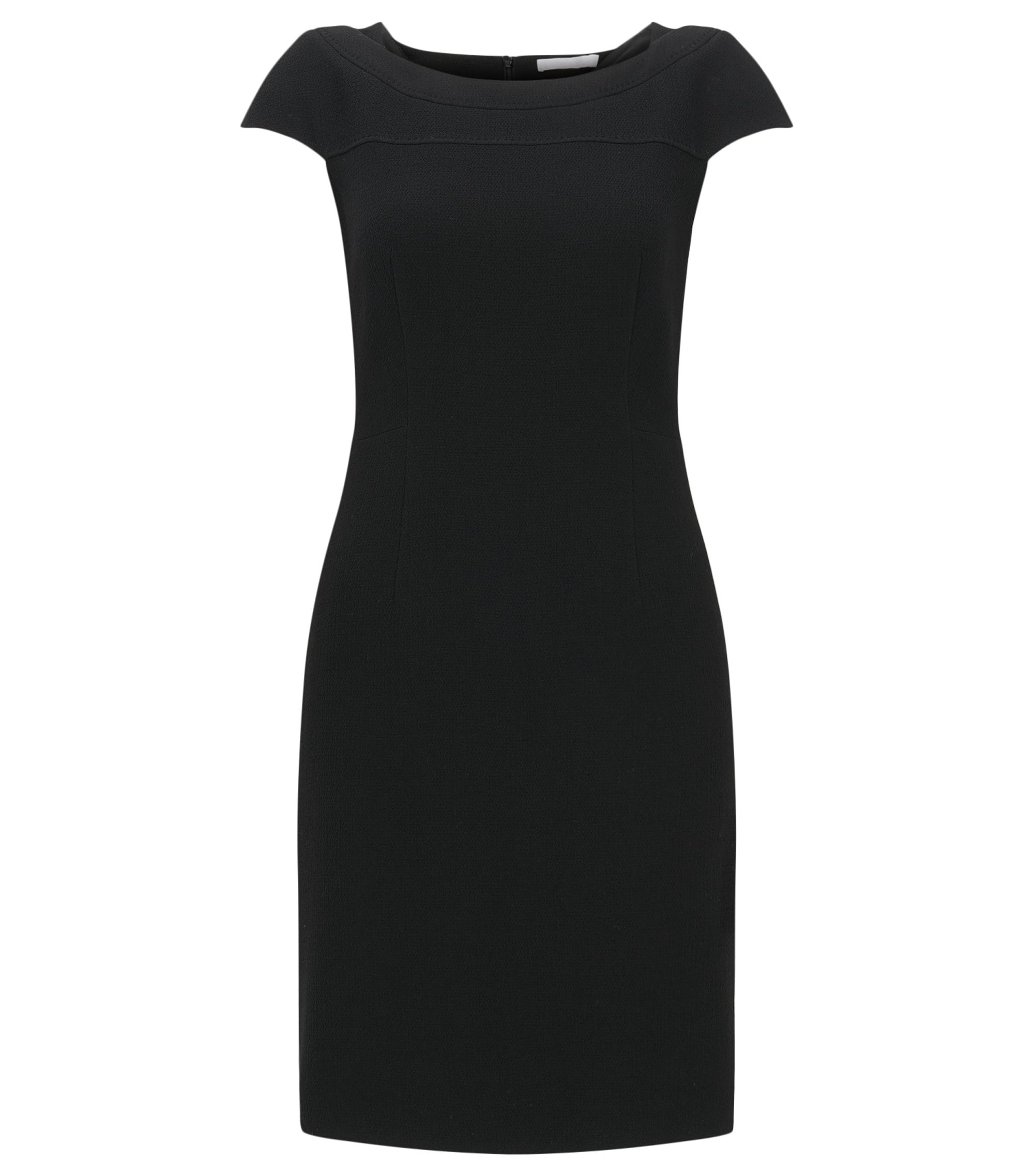 Virgin Wool Blend Sheath Dress | Dalikana, Black