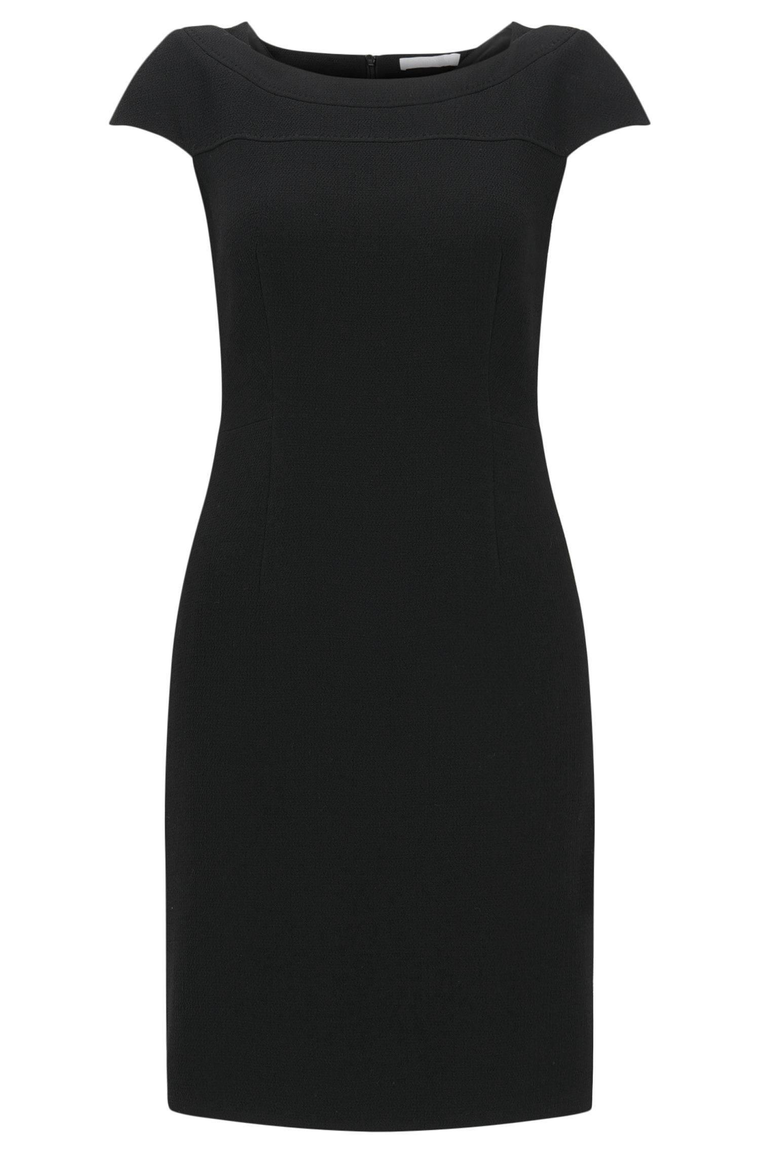 Virgin Wool Blend Sheath Dress | Dalikana
