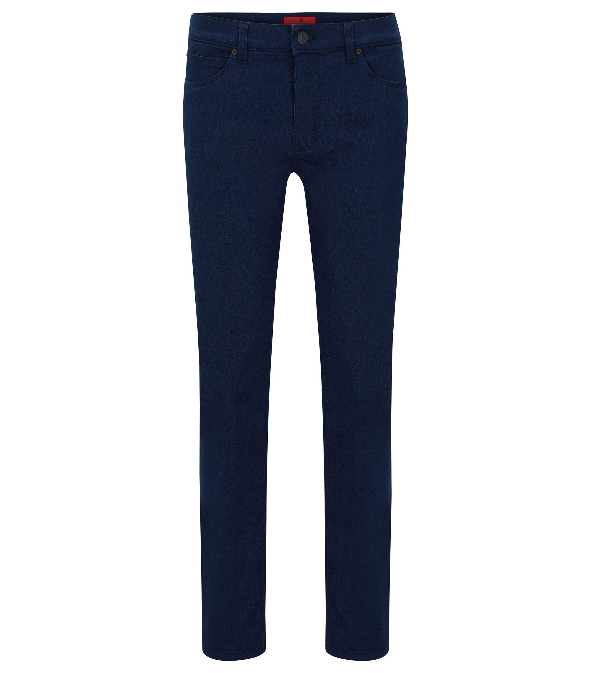8 oz Stretch Cotton Jeans, Skinny Fit | Hugo 734, Dark Blue
