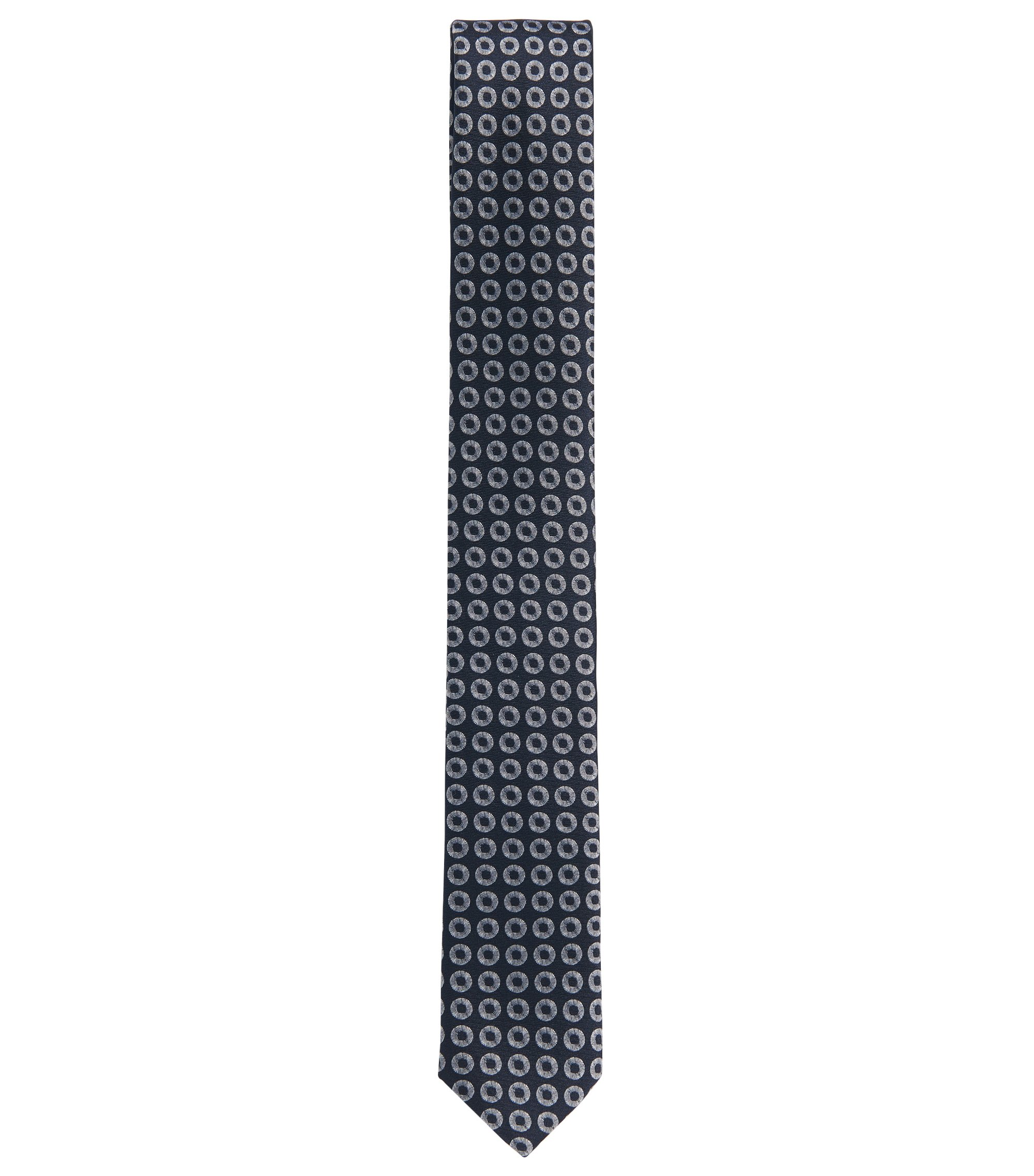 Ring Repp Silk Slim Tie, Dark Blue