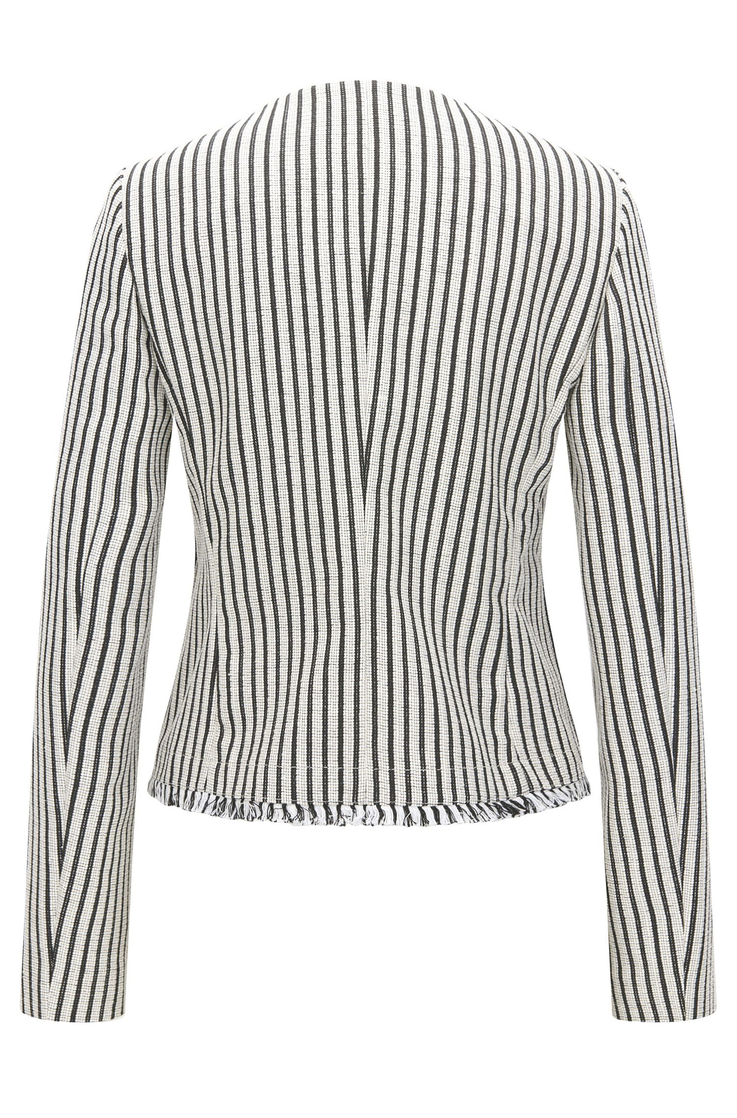 Striped Cotton Blend Bouclé Jacket | Komina