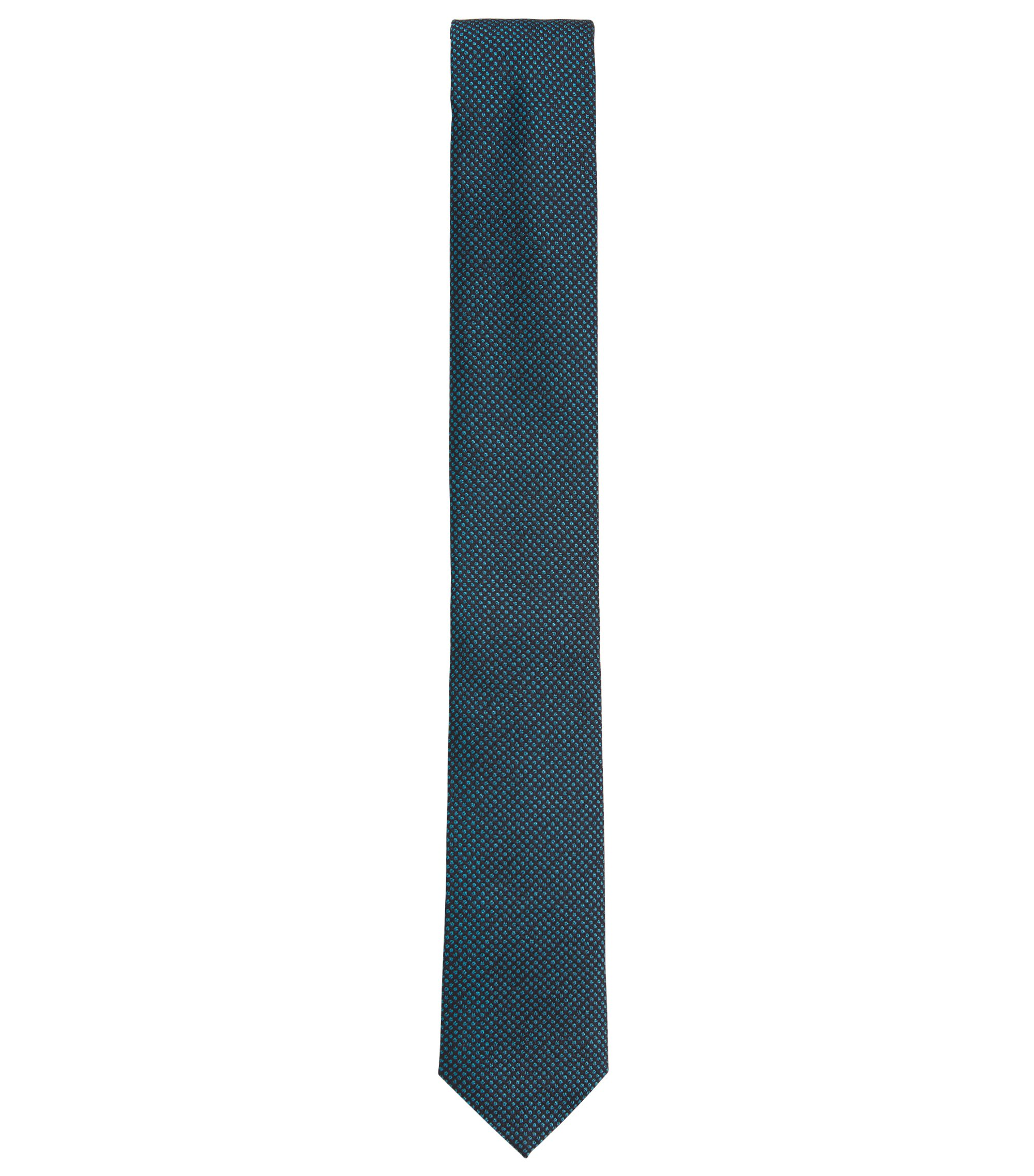 Pin Dot Italian Silk Slim Tie, Light Blue
