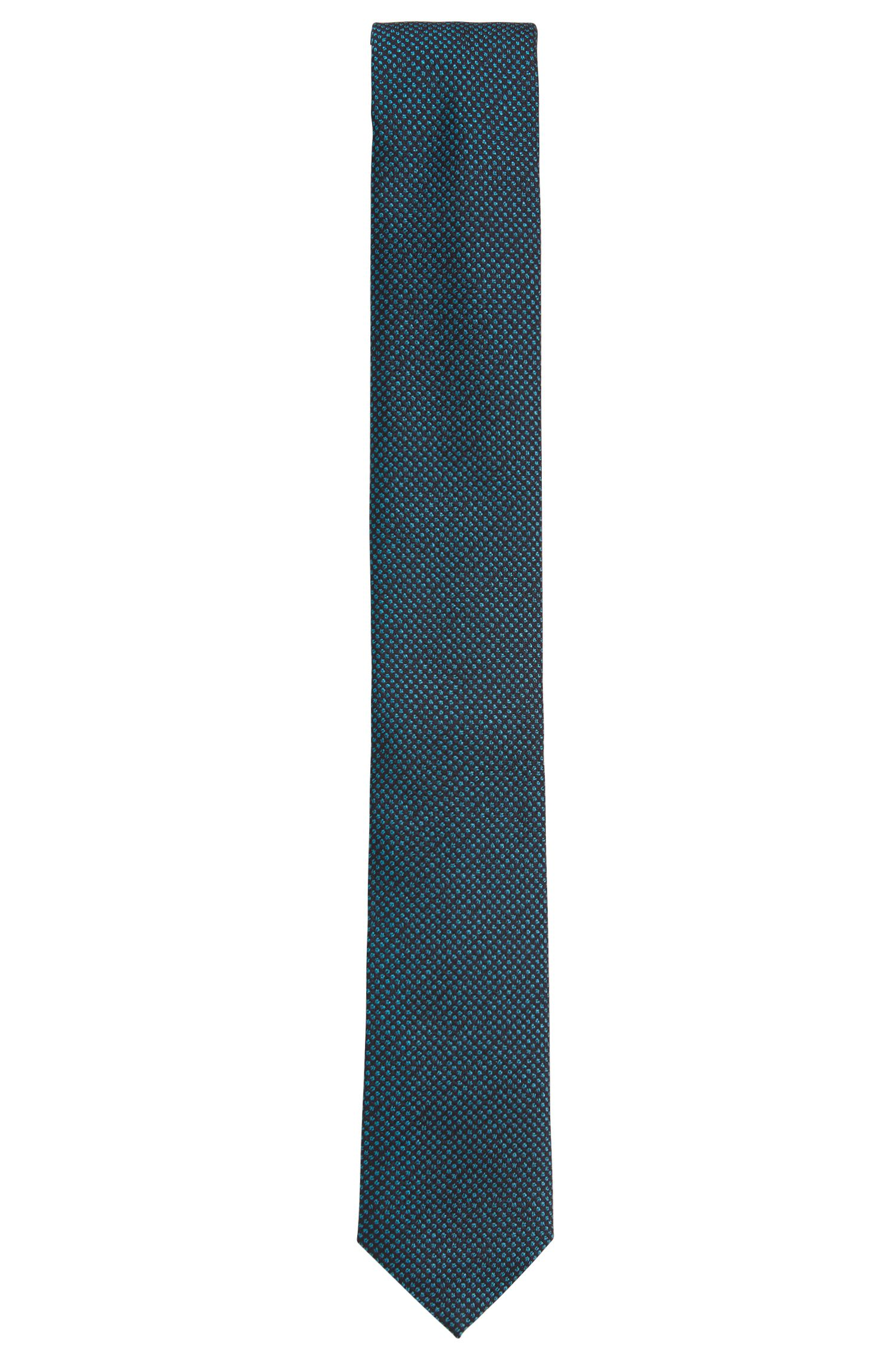 Pin Dot Embroidered Silk Tie, Slim | Tie 6 cm
