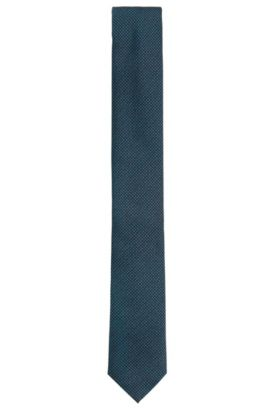 Pin Dot Embroidered Silk Tie, Slim | Tie 6 cm, Light Blue