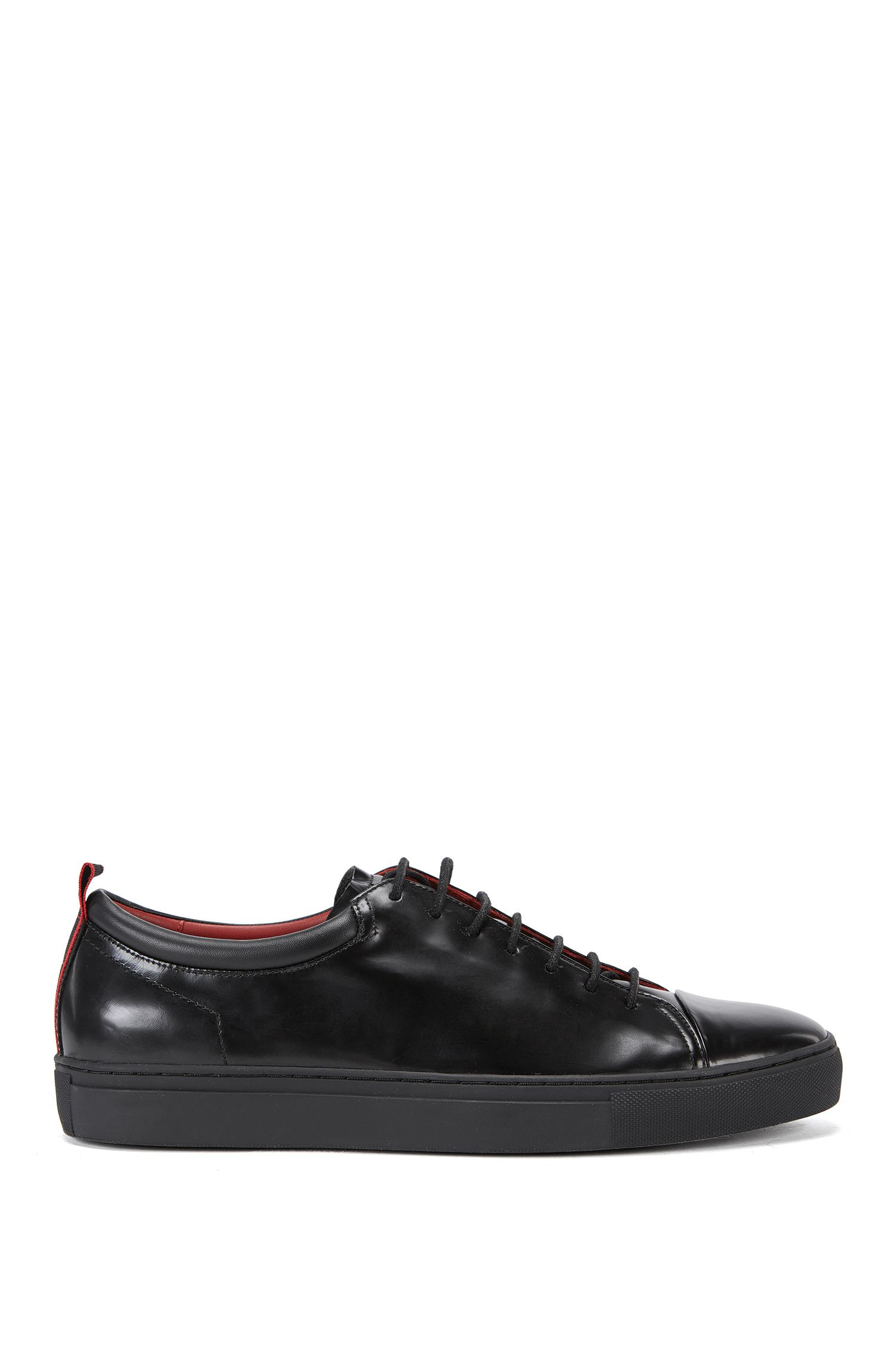 Leather Tennis Shoe   Casual Fut Tenn Boct, Black