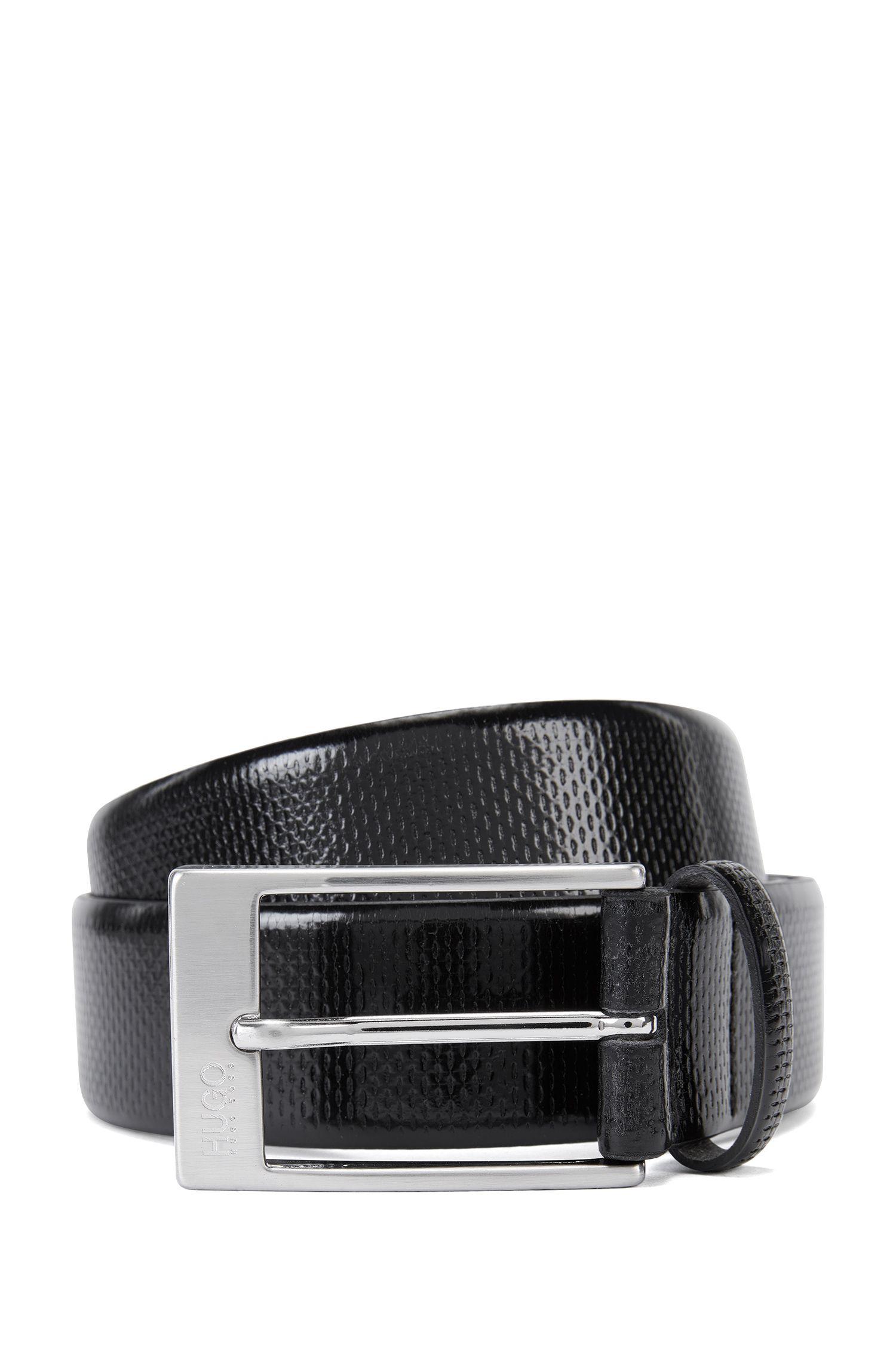 'C-Grasony'   Embossed Leather Belt