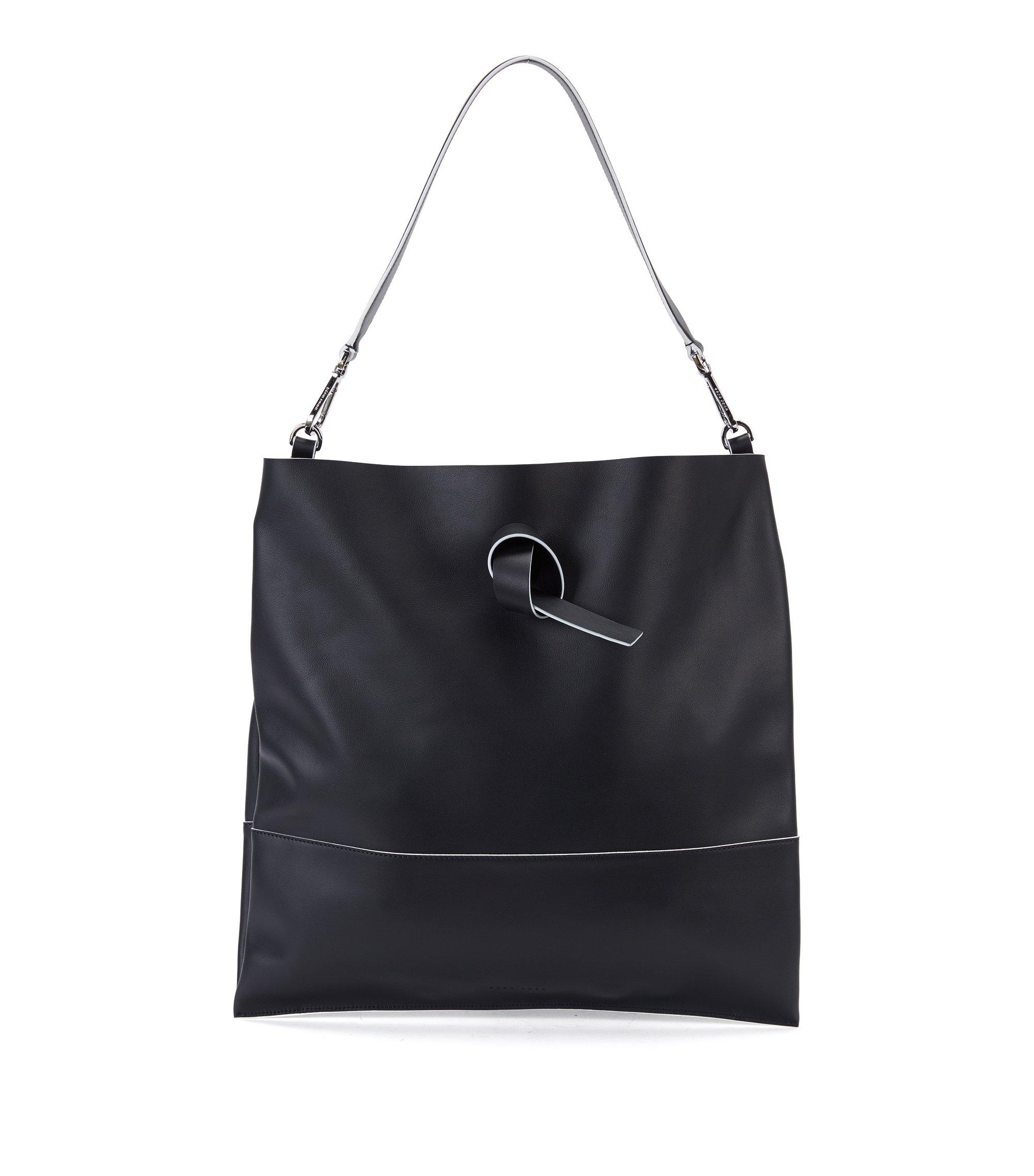 Italian Leather Handbag | Modern Day Tote, Black