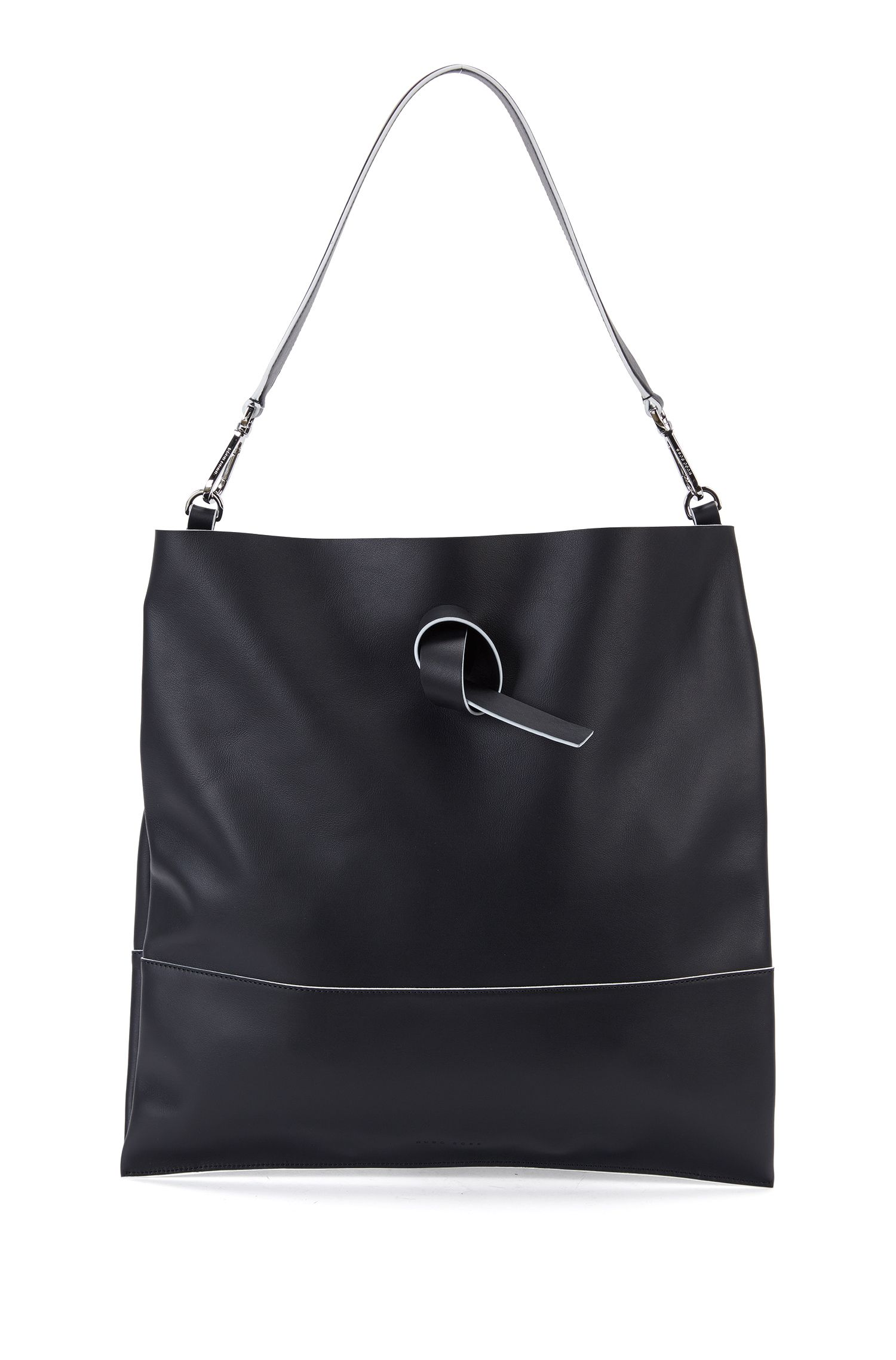 Italian Leather Handbag | Modern Day Tote, Black