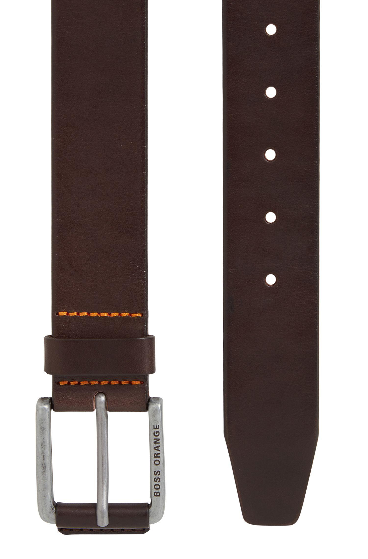Leather Belt | Jakab Sz40 Ltpl, Dark Brown