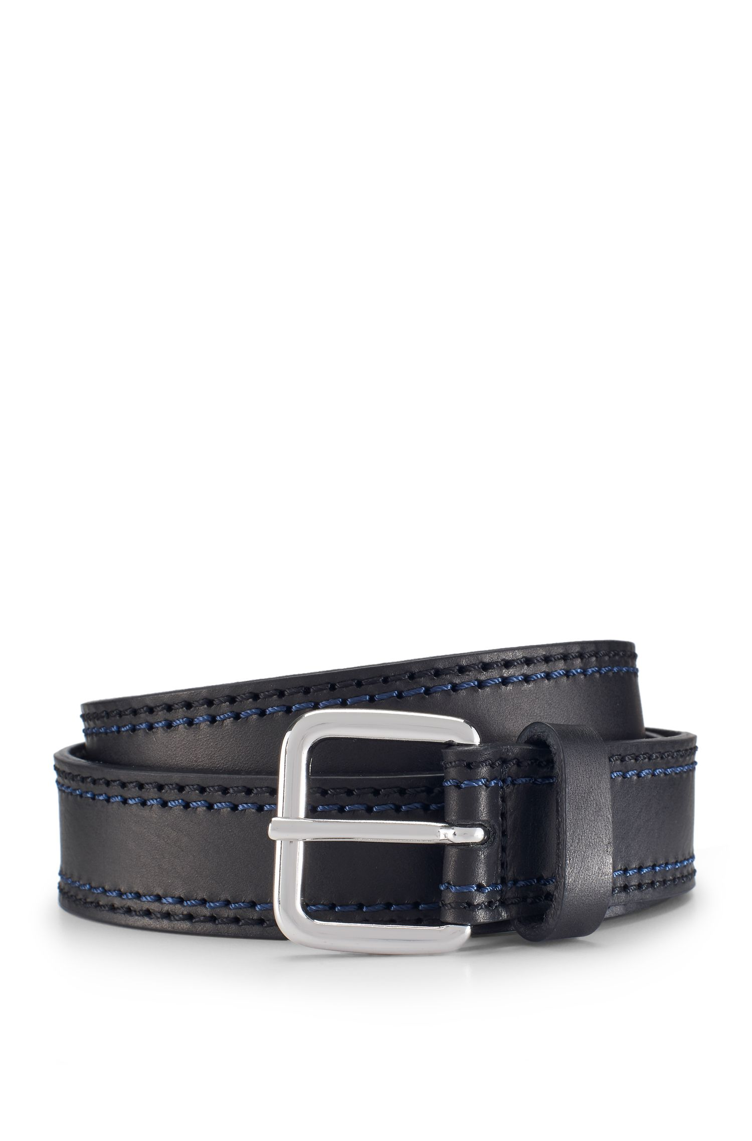 'Giolle' | Stitched Leather Belt