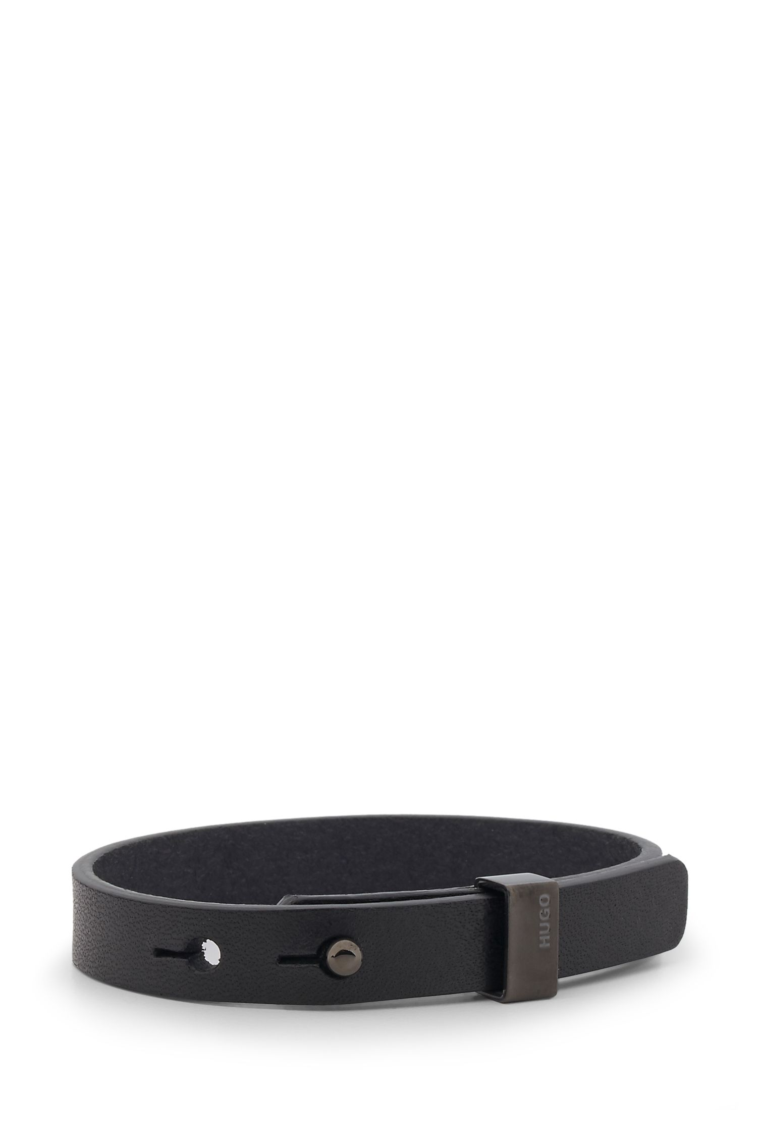Leather Bracelet | E-Loop, Black