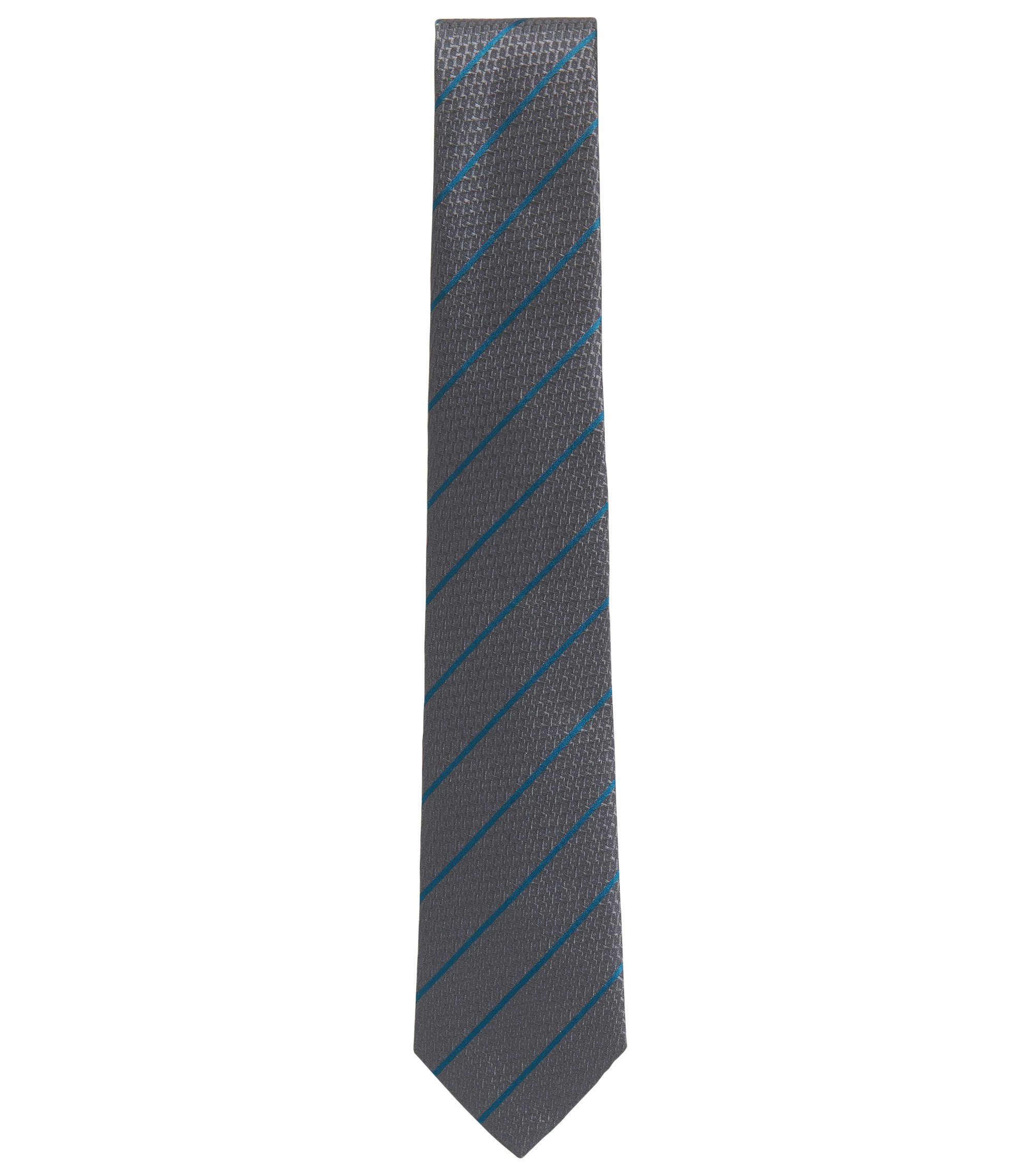 BOSS Tailored Italian Silk Tie, Grey
