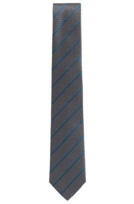 'T-Tie 7.5 cm' | Regular, Italian Silk Tie, Grey