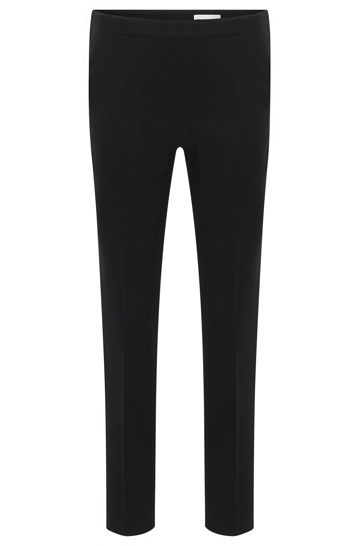 'Tilunisa Sidezip' | Crepe Crop Pants