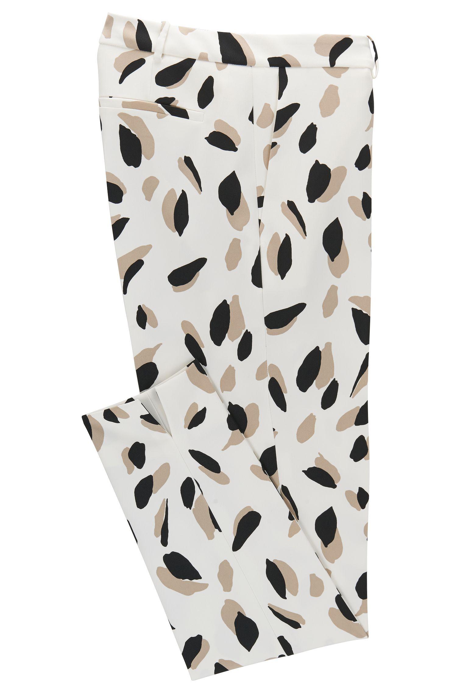 Printed Stretch Pant, Slim Fit | Timera
